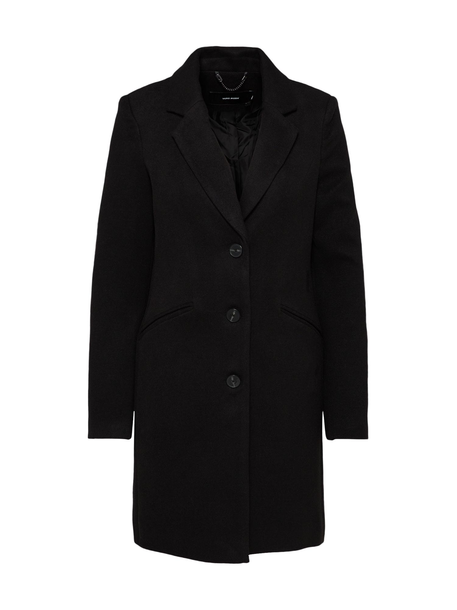 Přechodný kabát VMCINDY CALA 34 BOOS černá VERO MODA