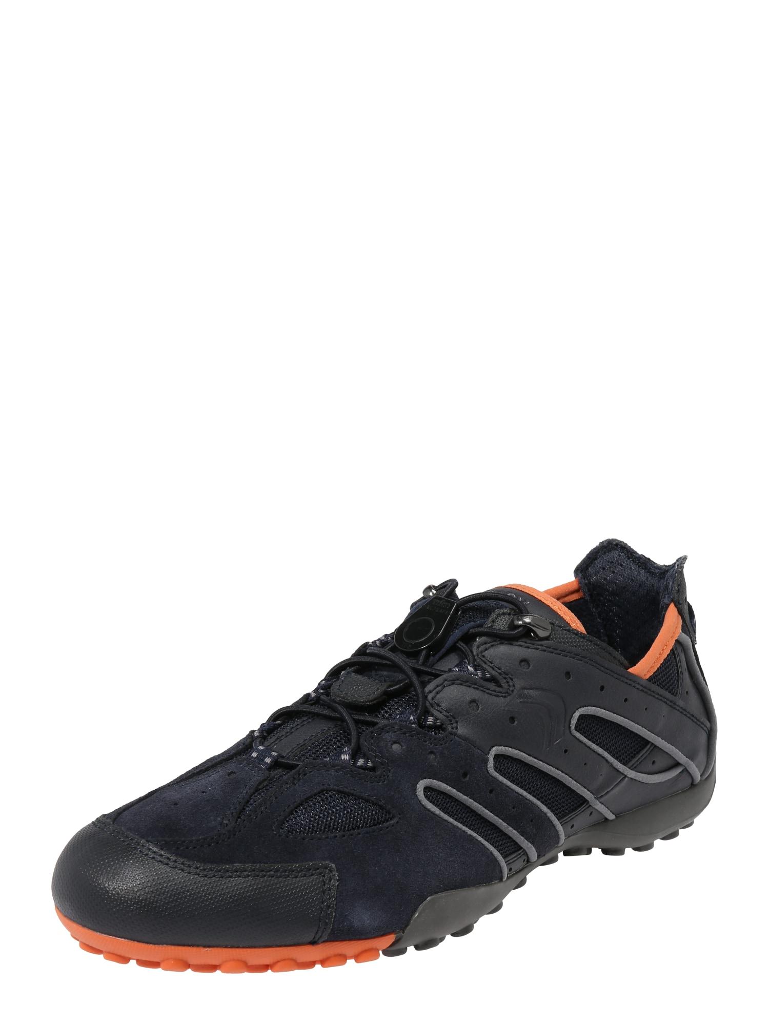 Tenisky Uomo Snake tmavě oranžová černá GEOX
