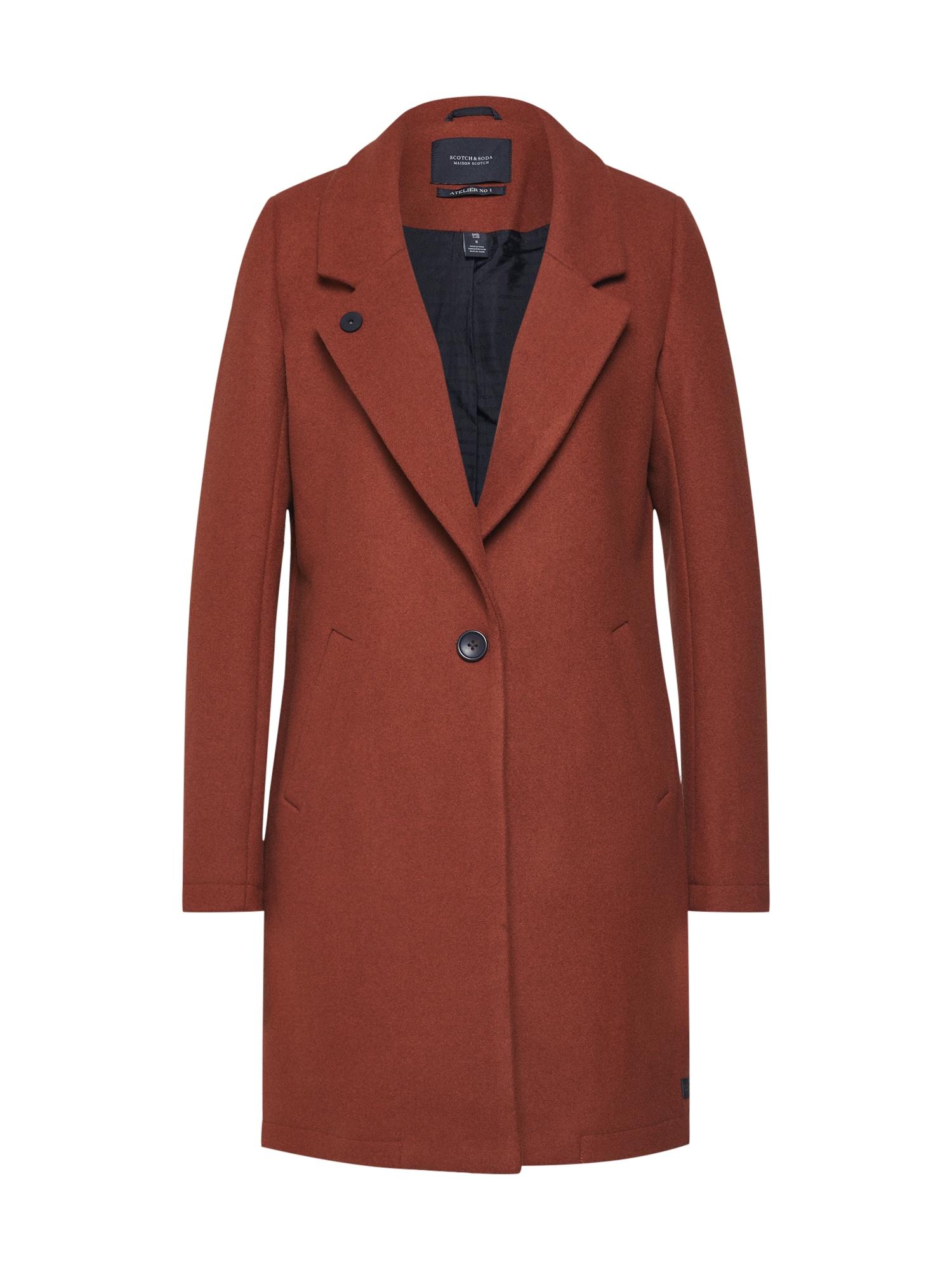 Přechodný kabát rezavě hnědá SCOTCH & SODA