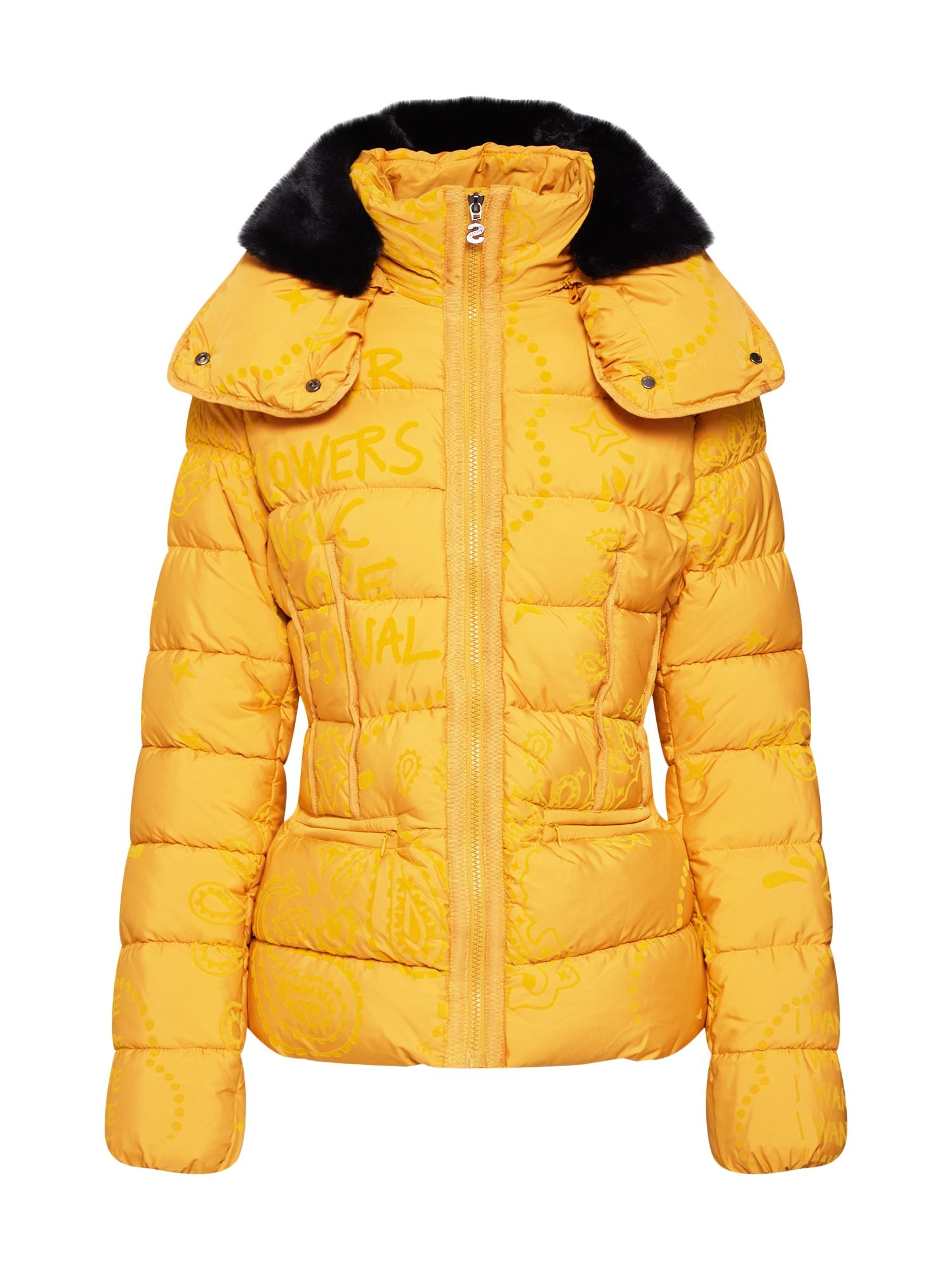 Zimní bunda PADDED_SUNNA žlutá Desigual