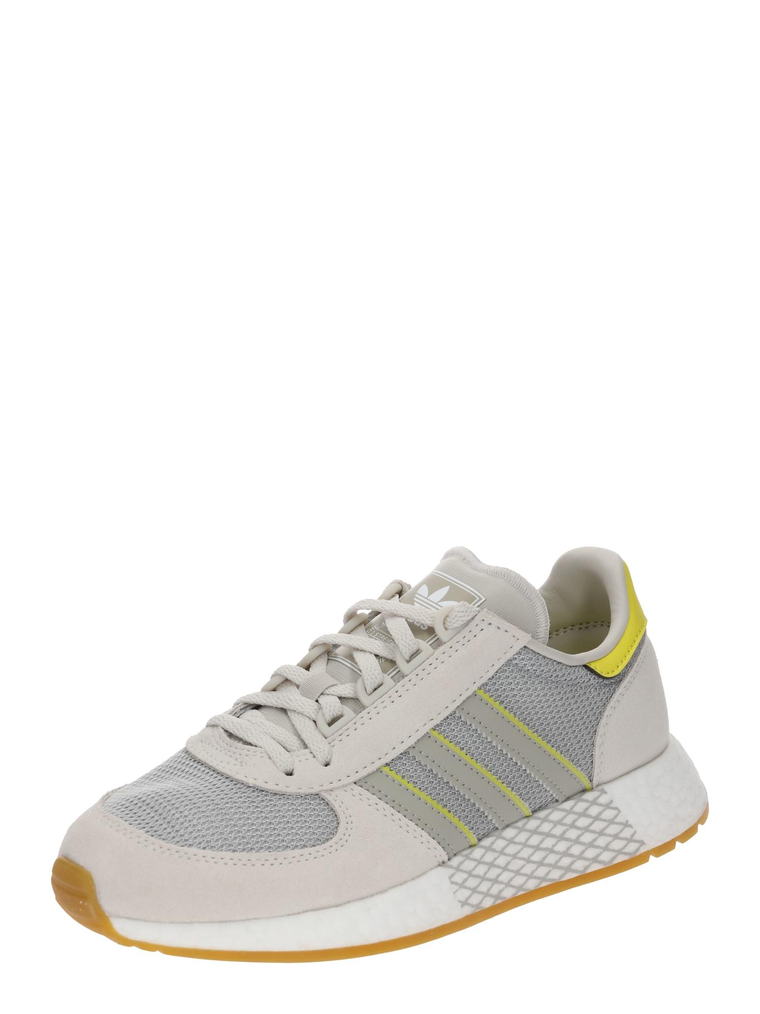 Tenisky Marathon Techu W žlutá režná světle šedá ADIDAS ORIGINALS