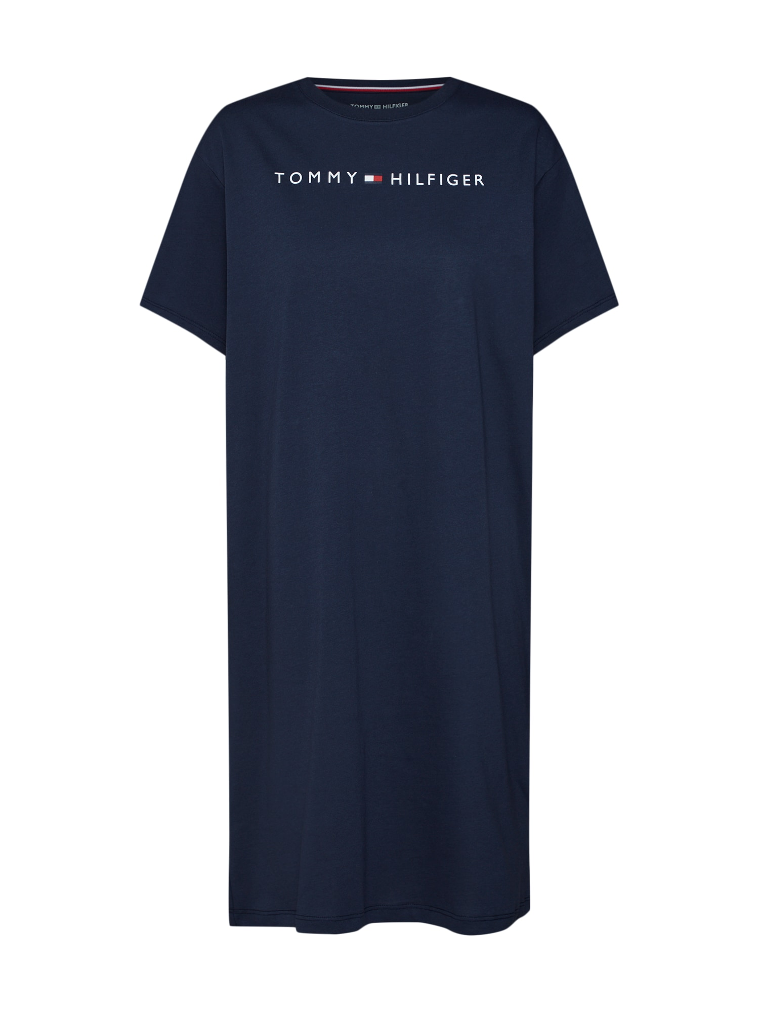 Noční košilka RN DRESS HALF SLEEVE tmavě modrá Tommy Hilfiger Underwear