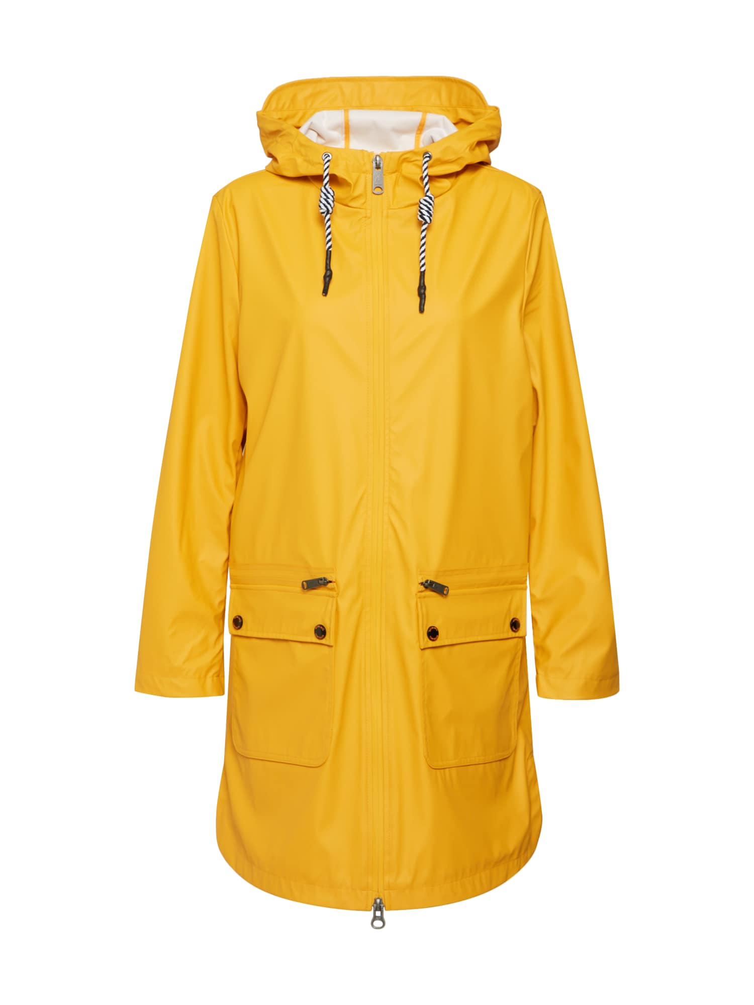 Přechodný kabát citronová TOM TAILOR