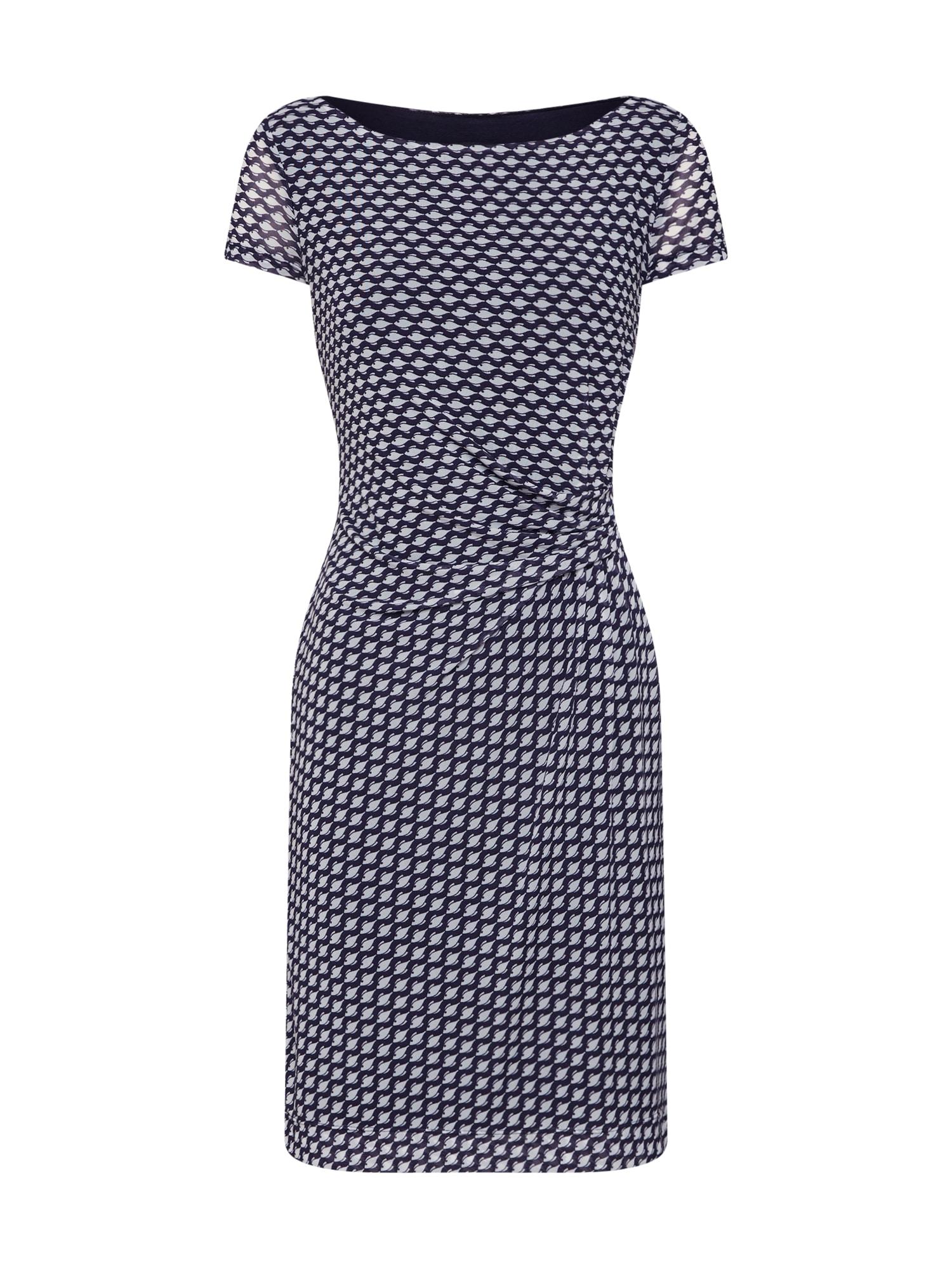 Pouzdrové šaty tmavě modrá mix barev COMMA