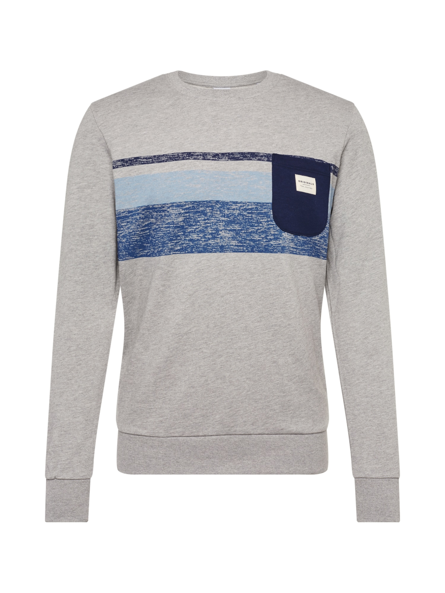 JACK & JONES Mikina 'JORLANGLEY SWEAT CREW NECK'  šedá