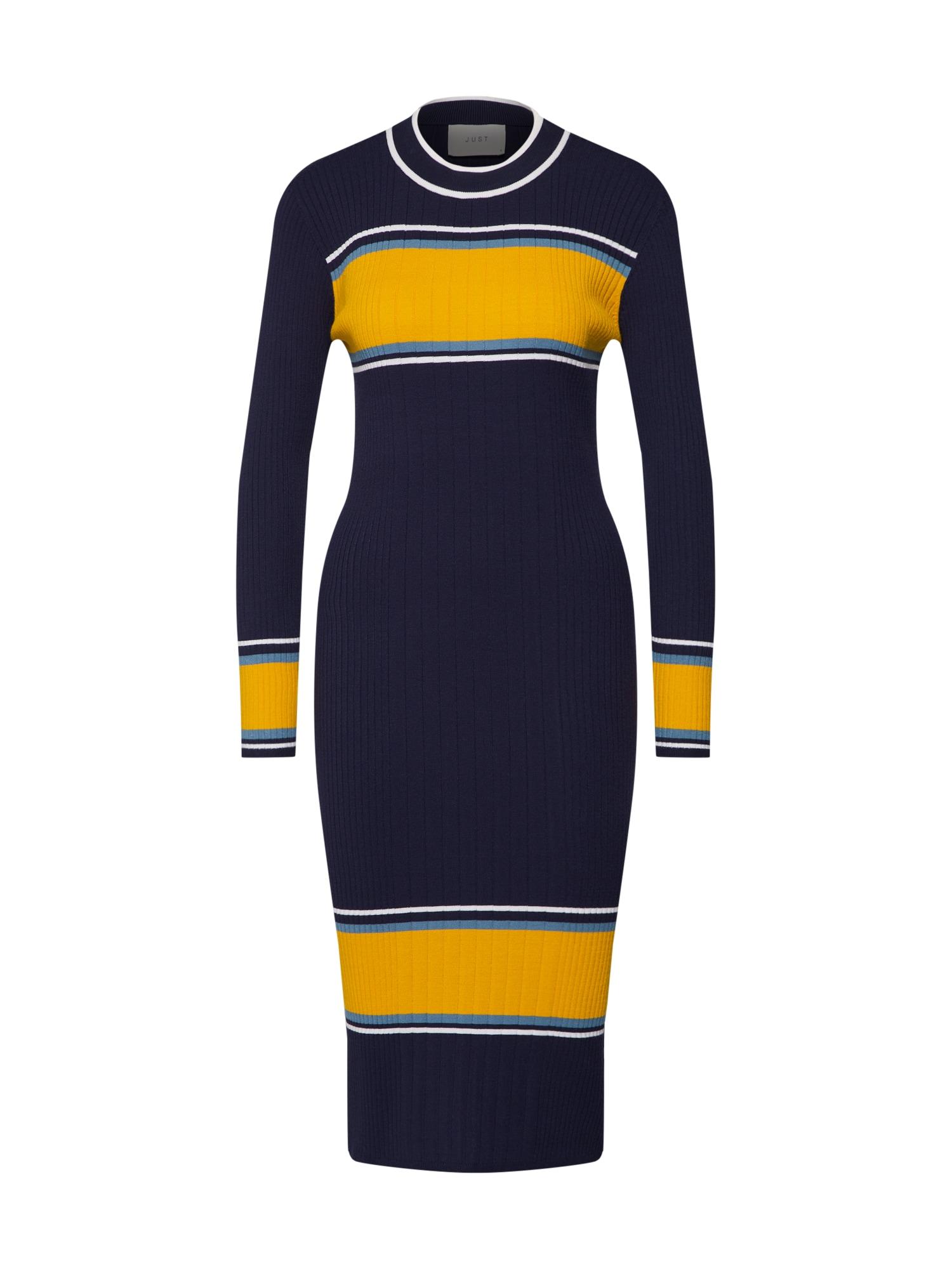 Šaty Ebba modrá JUST FEMALE