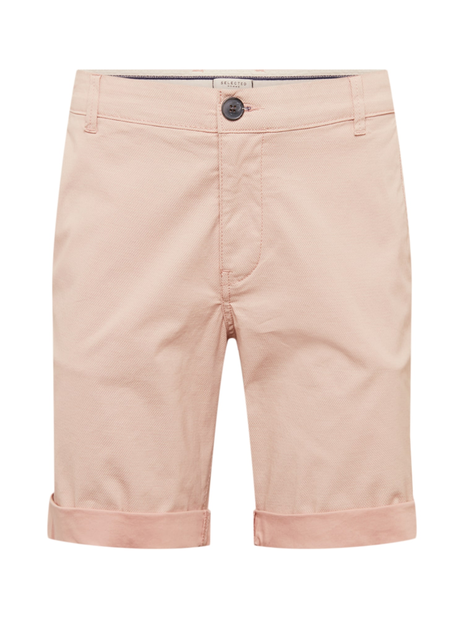 Chino kalhoty Paris růžová SELECTED HOMME