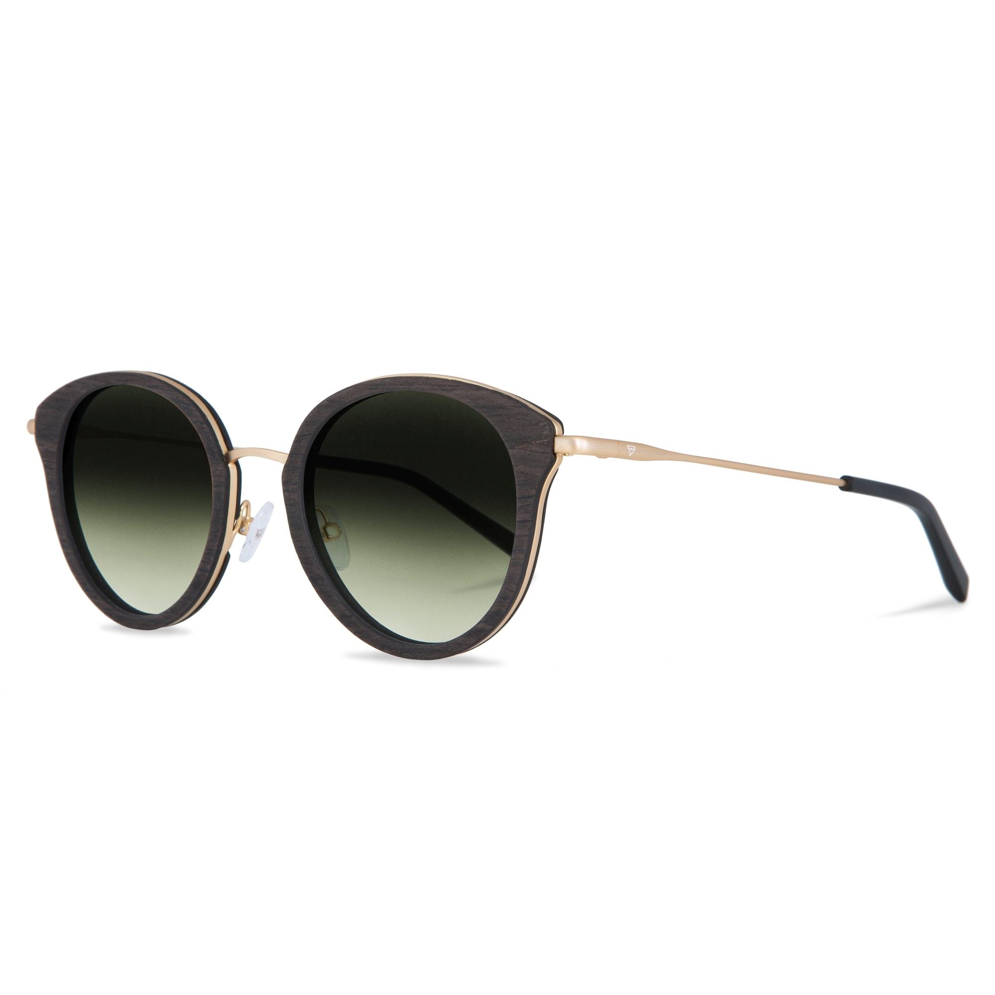 Sonnenbrille 'Wilhelmine' | Accessoires > Sonnenbrillen | Gold - Grün | Kerbholz