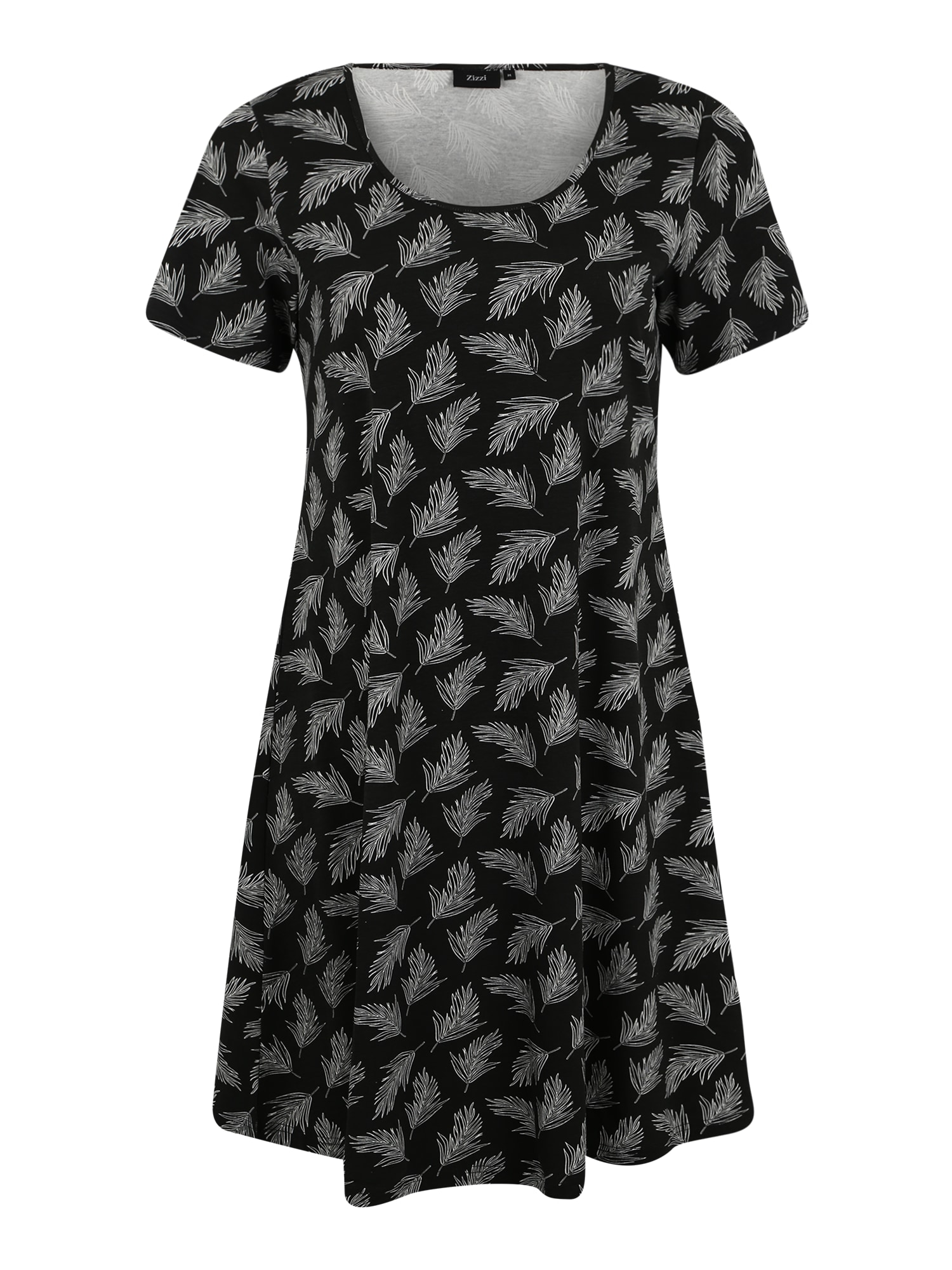 Zizzi Šaty  černá / bílá