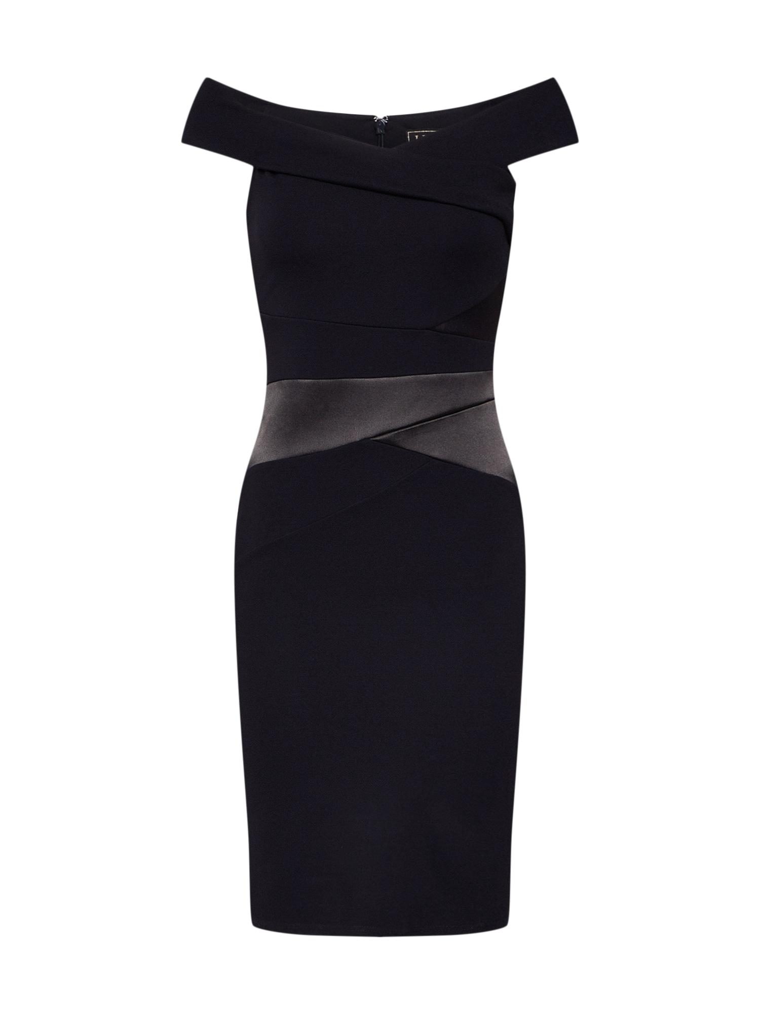 Koktejlové šaty Bardot černá Lipsy