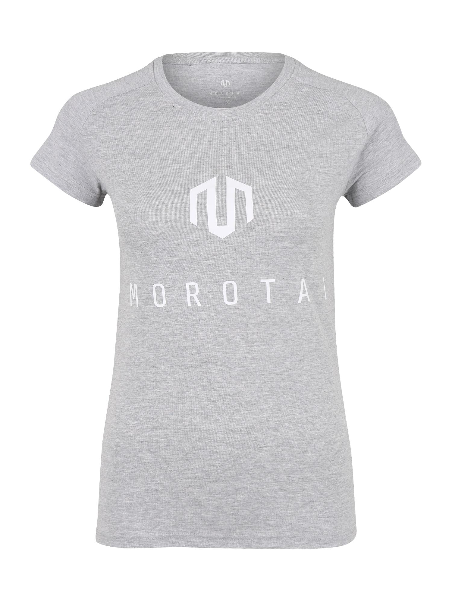 Funkční tričko NAKA světle šedá bílá MOROTAI