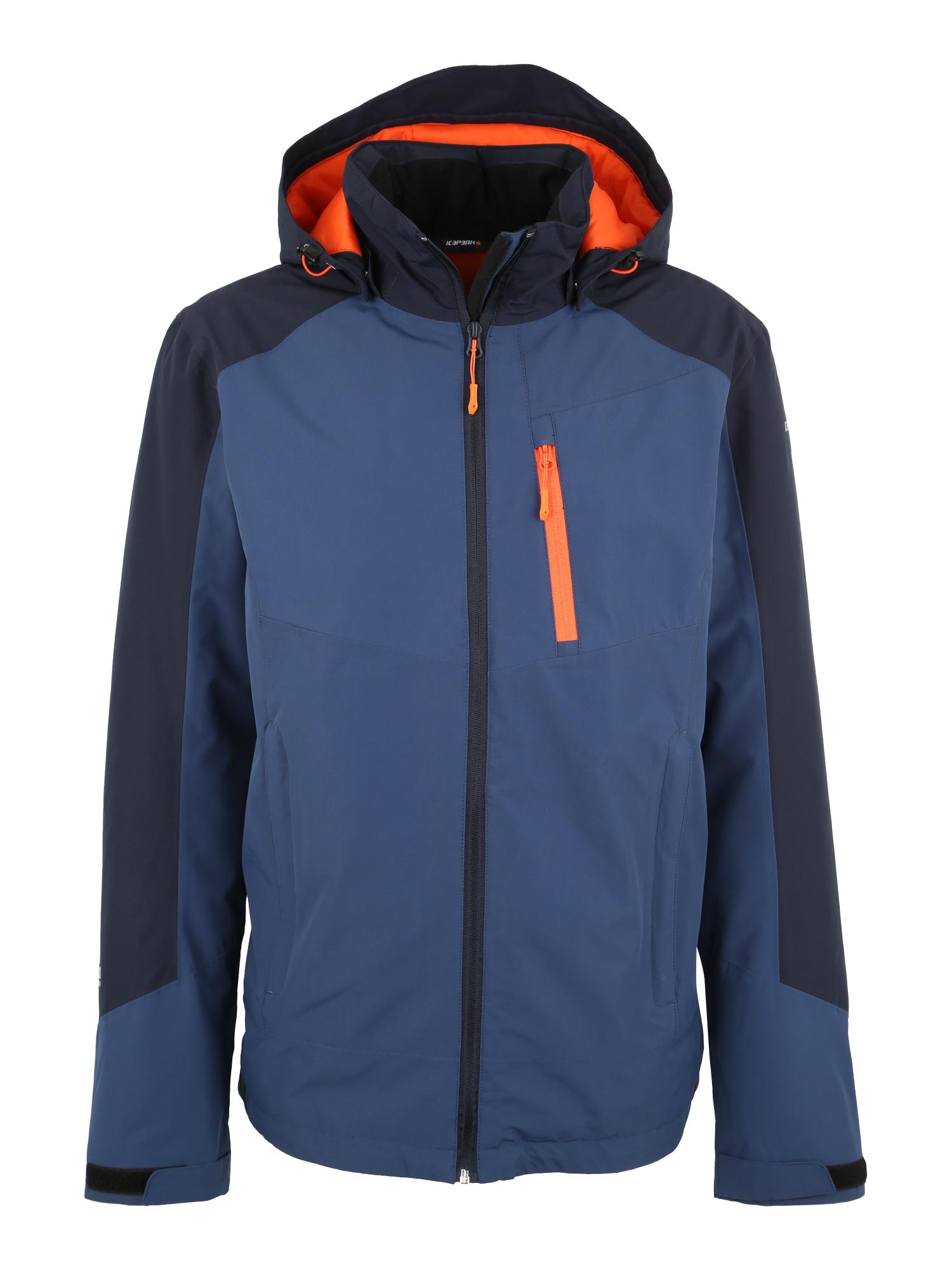 Outdoorová bunda LANZO modrá námořnická modř svítivě oranžová ICEPEAK