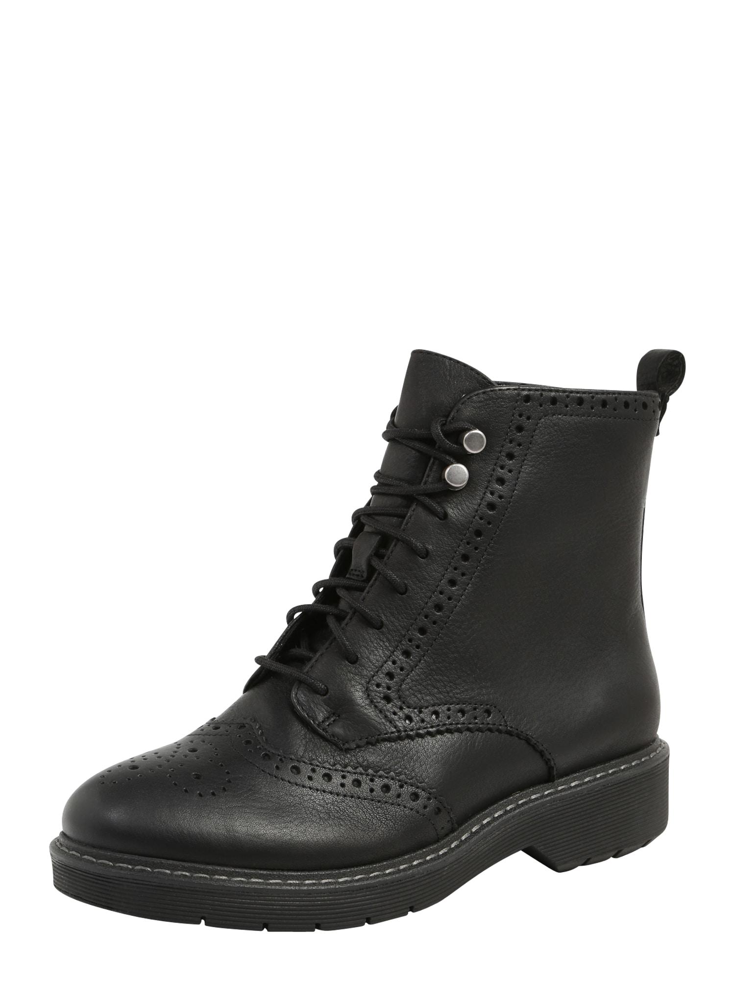 Šněrovací boty Witcombe Flo černá CLARKS