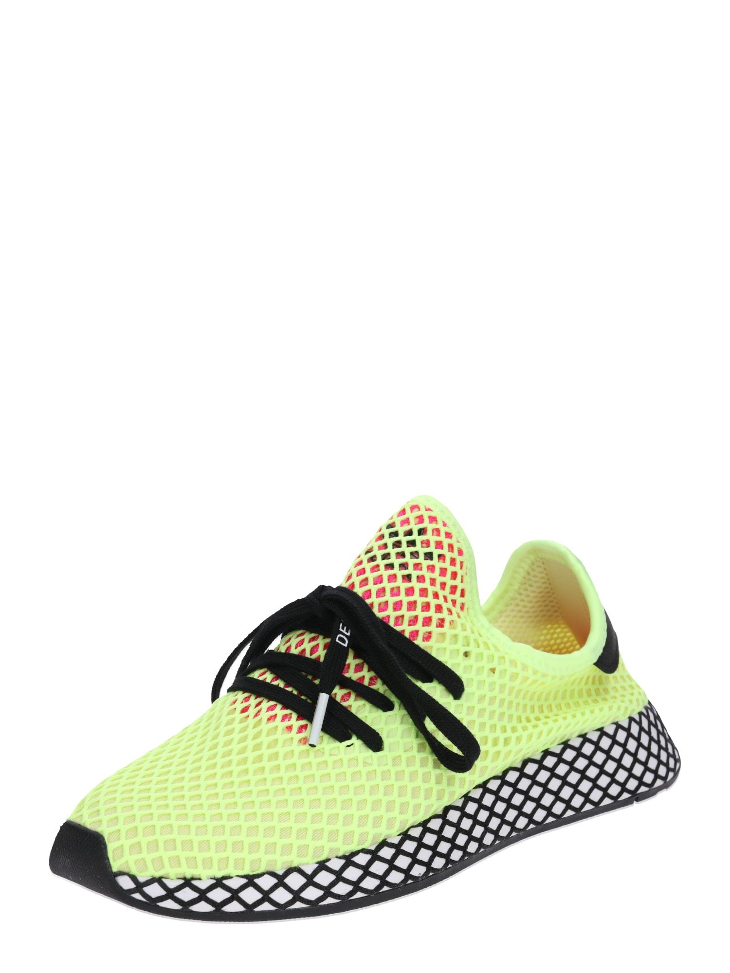 ADIDAS ORIGINALS, Heren Sneakers laag 'Deerupt Runner', neongeel / zwart