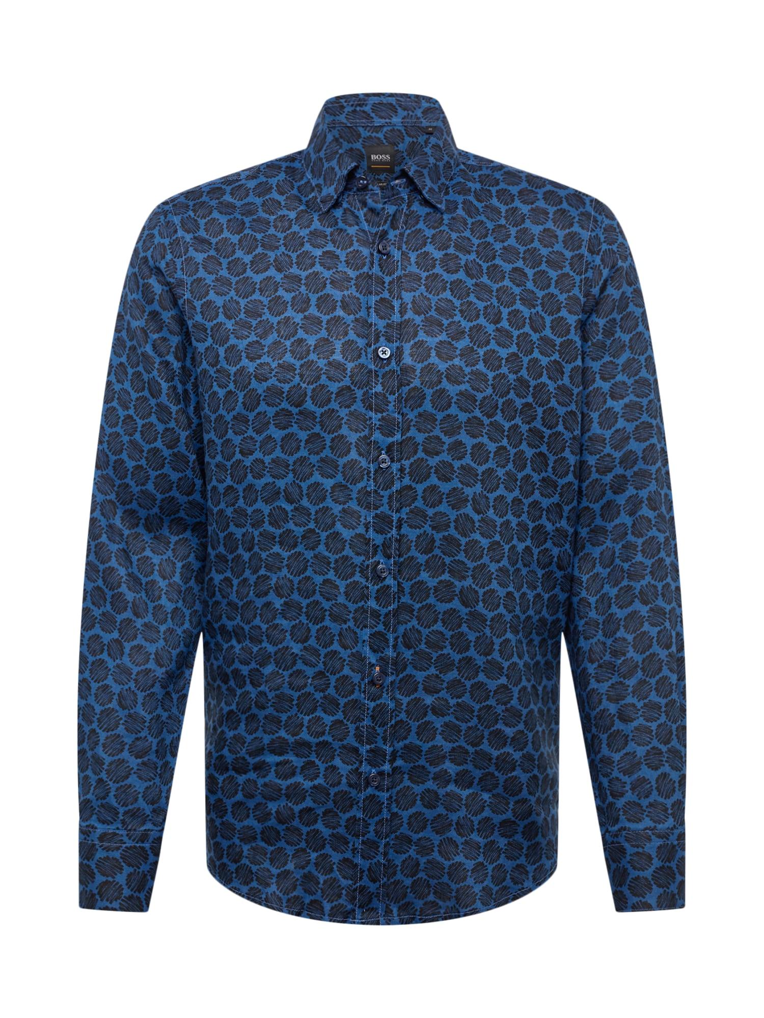 Košile Relegant tmavě modrá černá BOSS