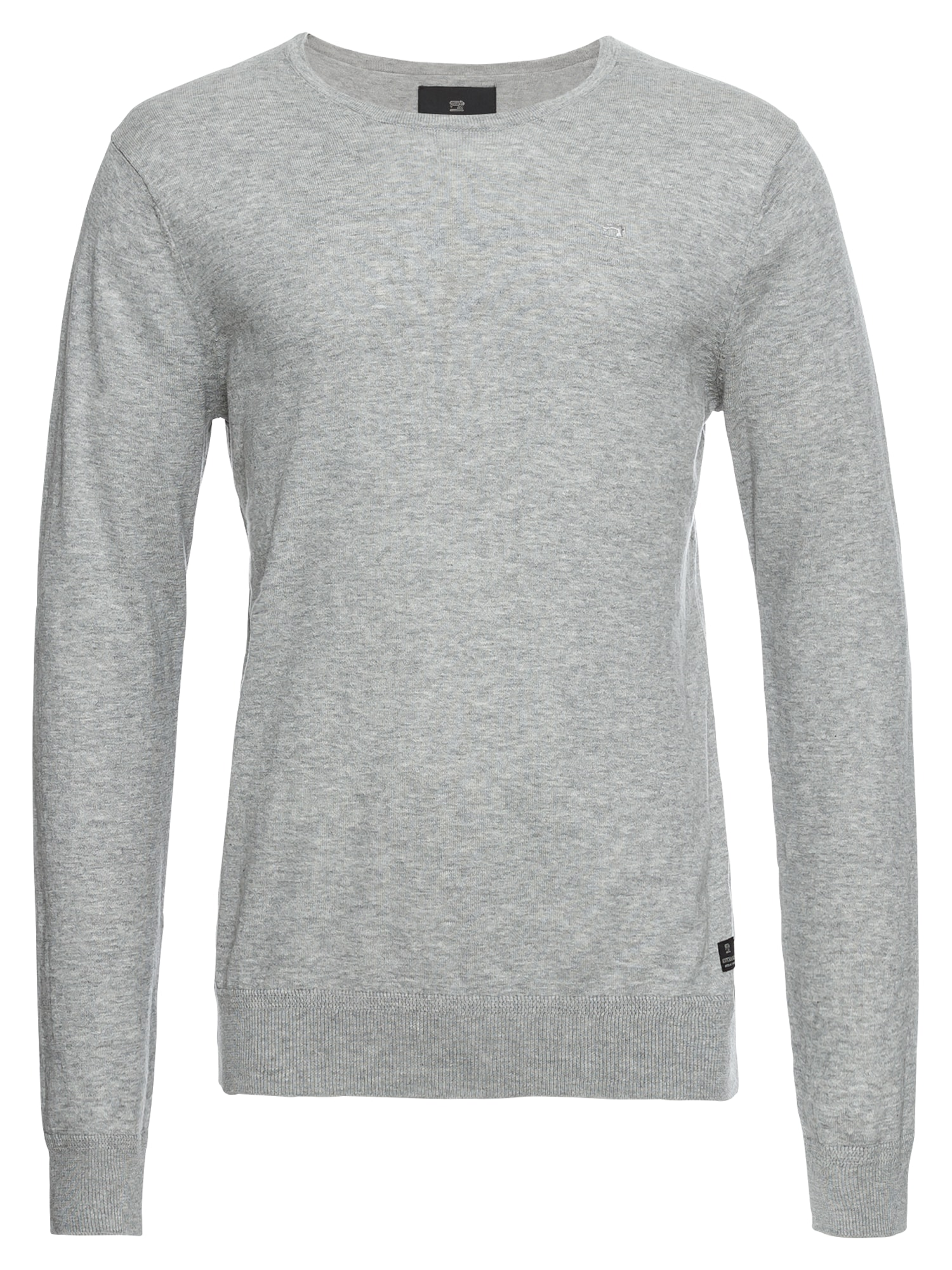 SCOTCH  and  SODA Heren Trui NOS Classic cotton melange crew neck pull lichtgr