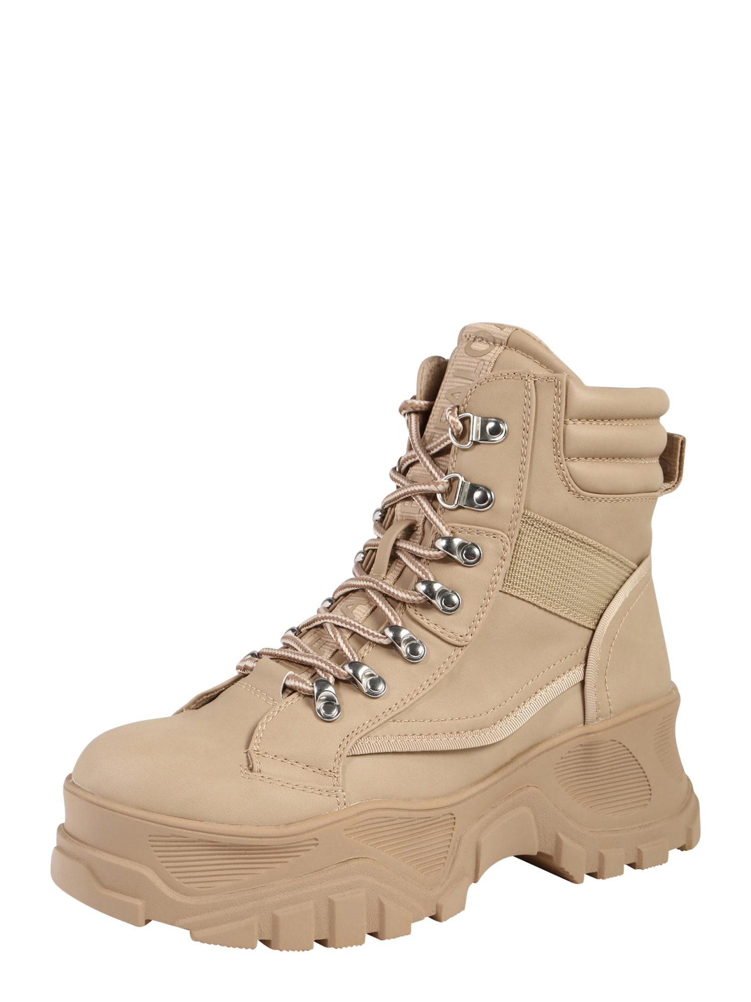 Šněrovací boty FENDO krémová BUFFALO