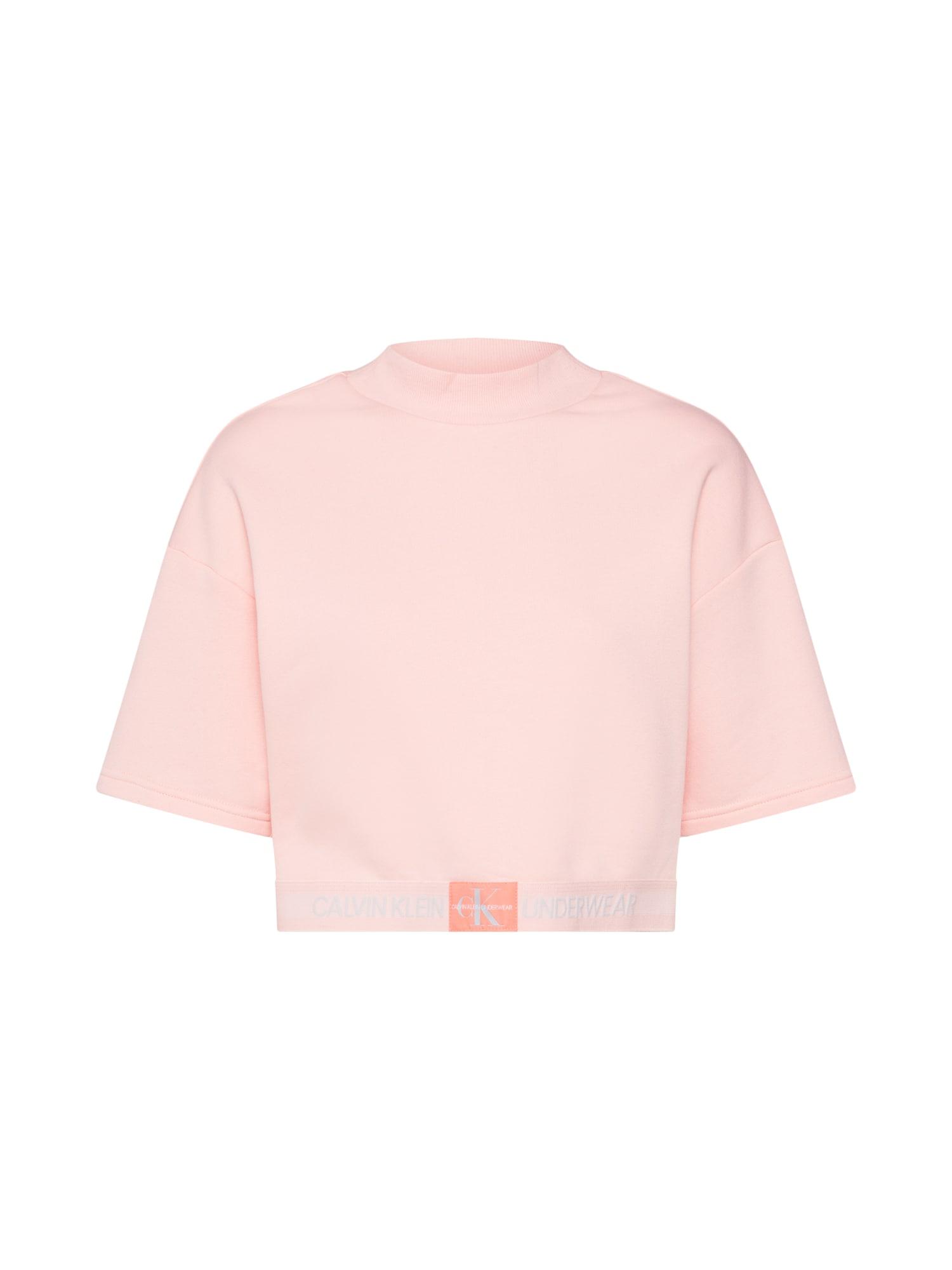 Tričko na spaní broskvová Calvin Klein Underwear