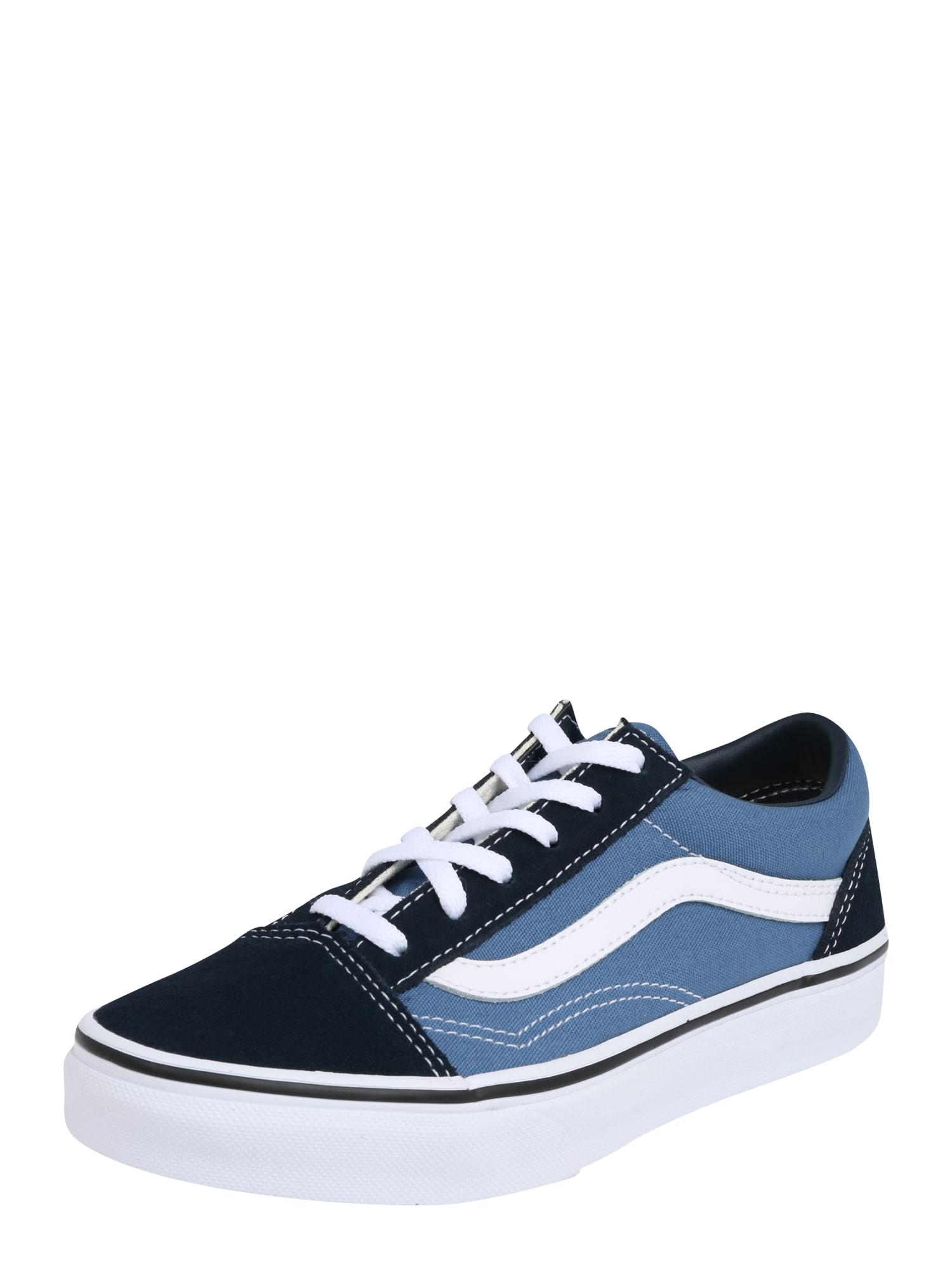 VANS, Jongens Sneakers 'Old Skool', navy / lichtblauw / wit