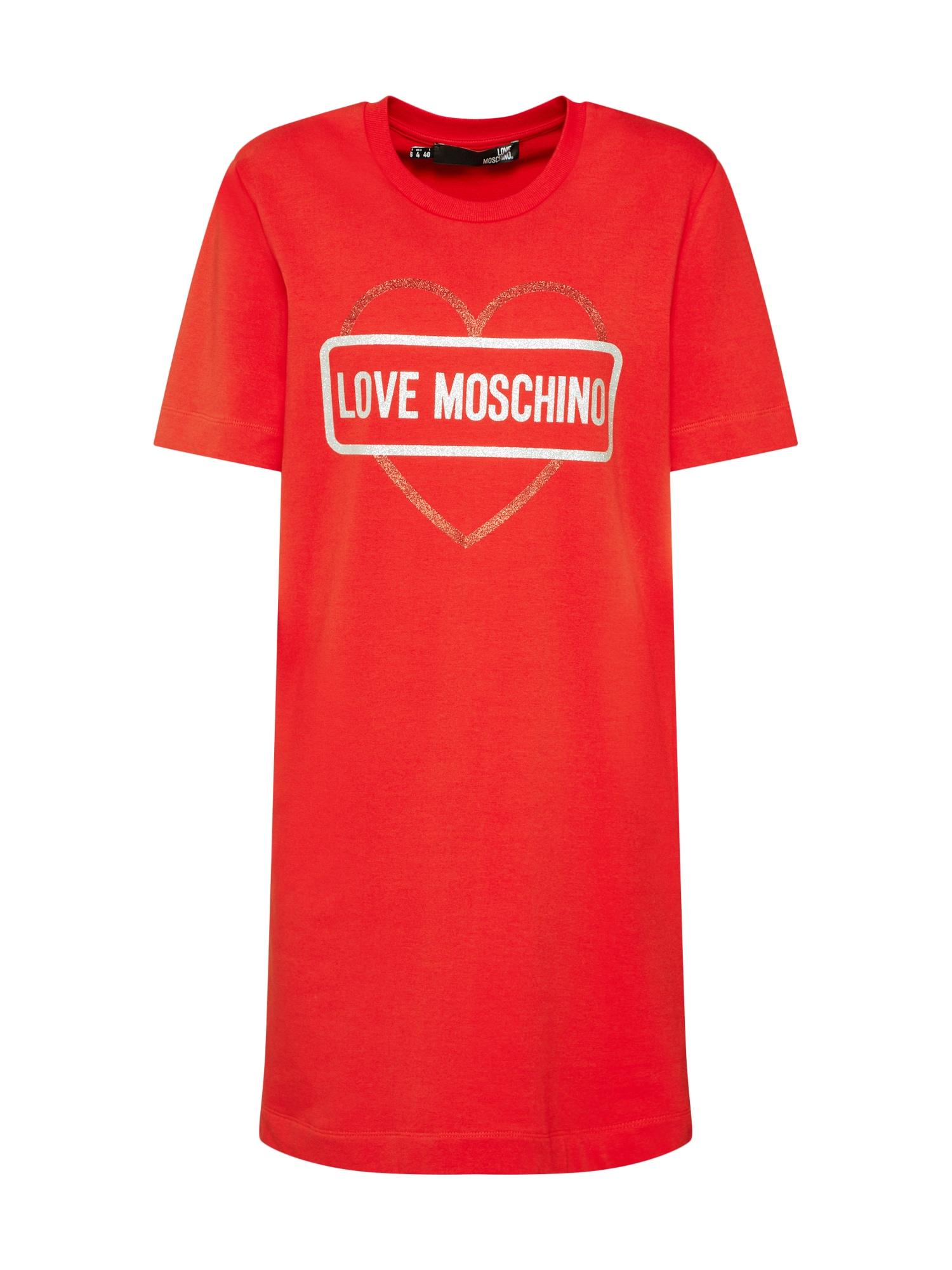 Šaty Abito červená Love Moschino