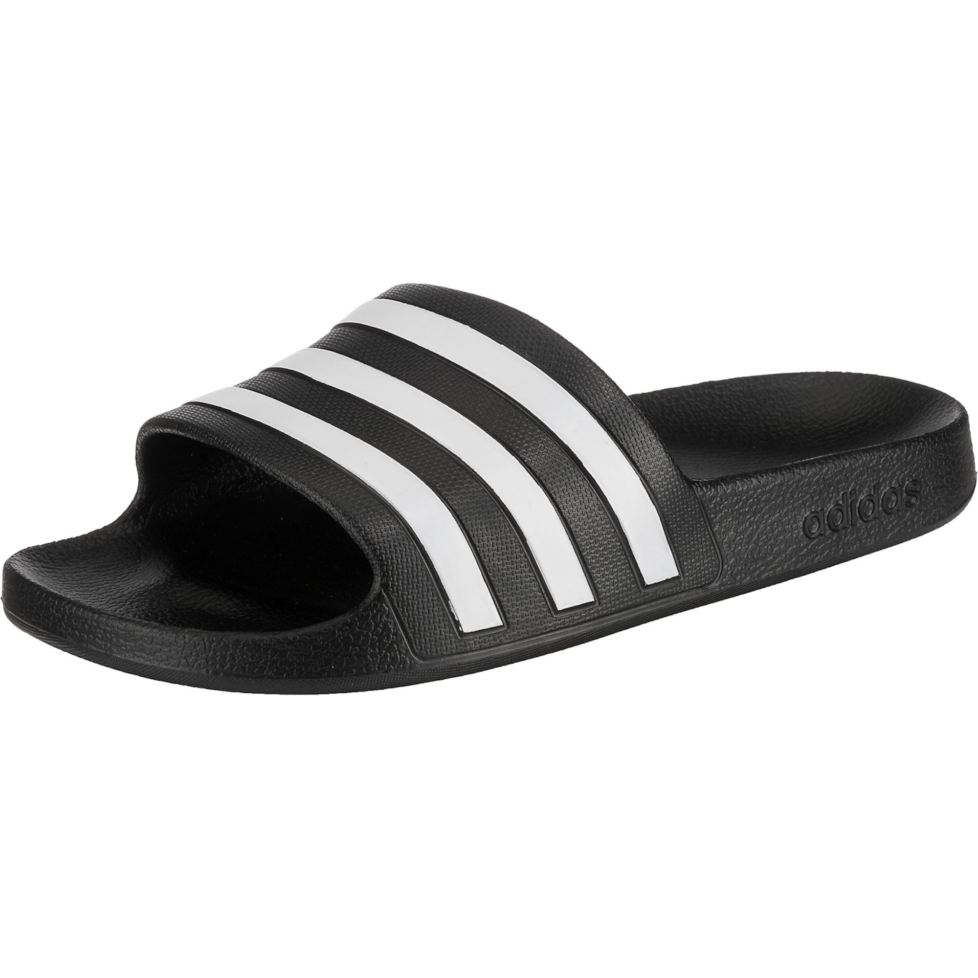 Plážovákoupací obuv Adilette Aqua schwarz weiß ADIDAS PERFORMANCE