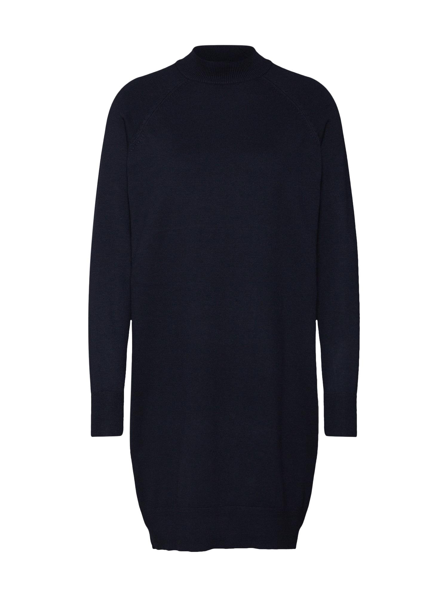 Úpletové šaty onlLAURA HIGHNECK DRESS CC KNT noční modrá ONLY