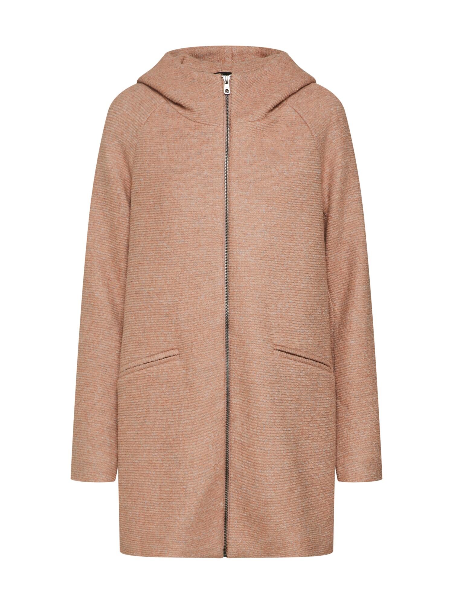 Zimní kabát lANEMONE světle hnědá ONLY