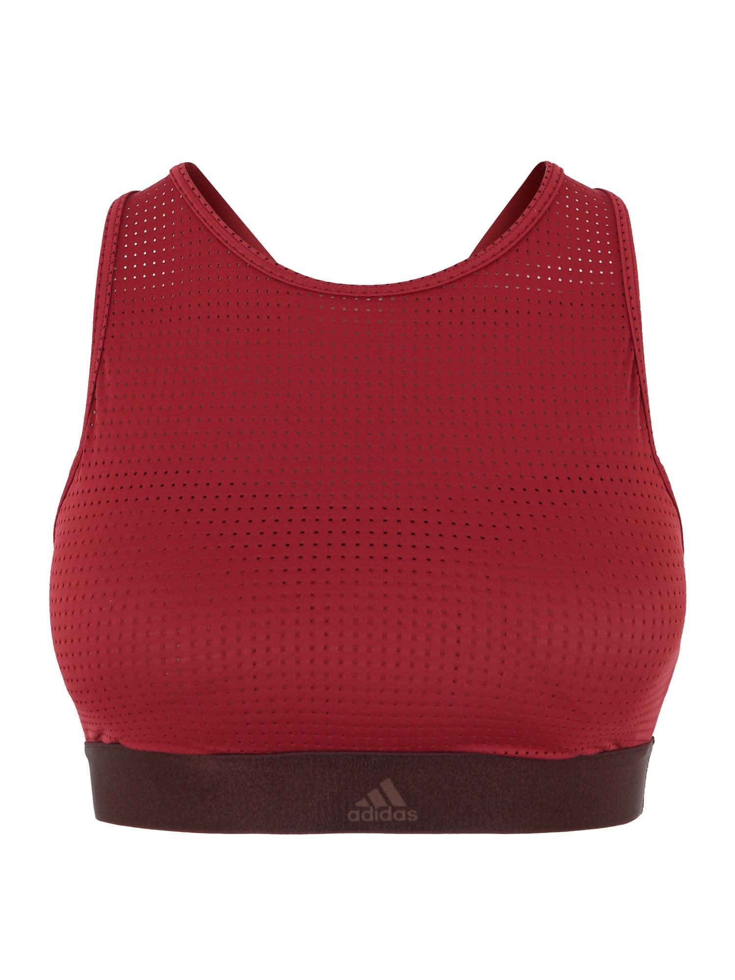 Sportovní podprsenka HALTER BRA 2.0 pink červená ADIDAS PERFORMANCE