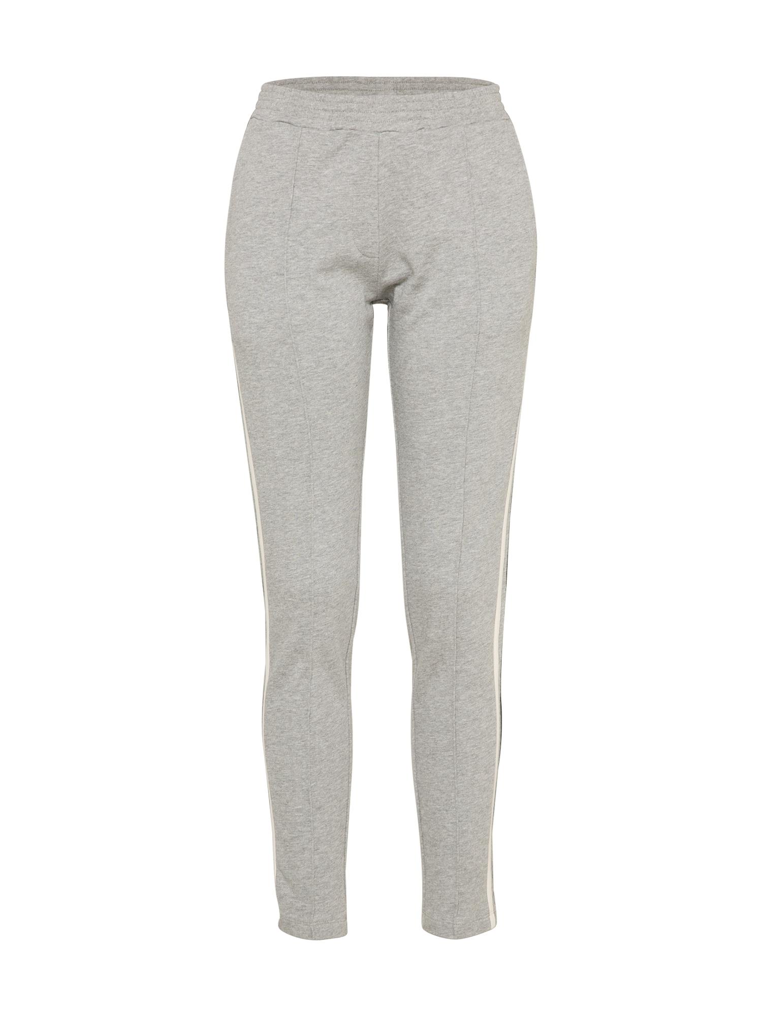 Kalhoty se sklady v pase BIDA šedý melír VERO MODA