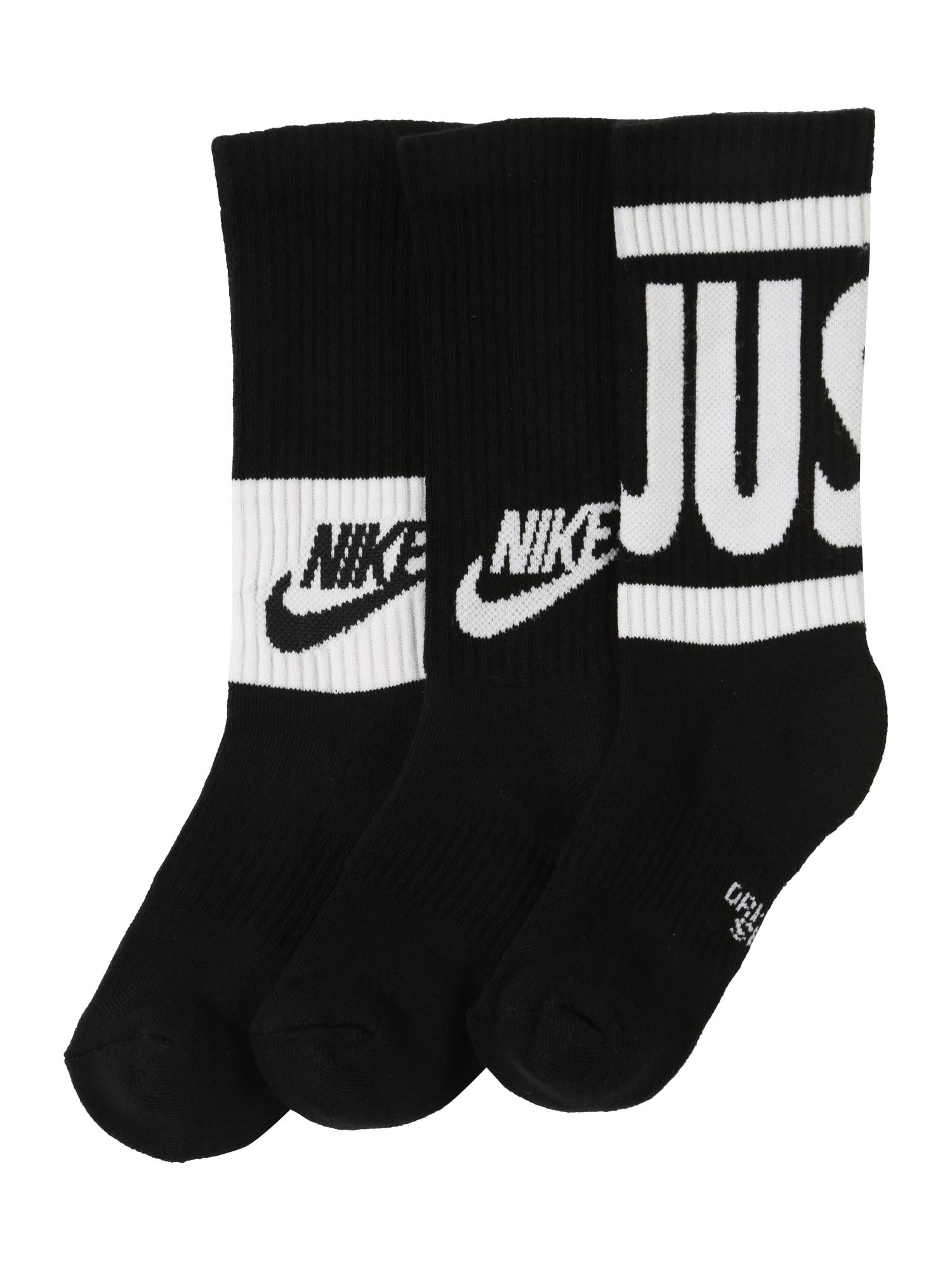 Ponožky černá bílá Nike Sportswear