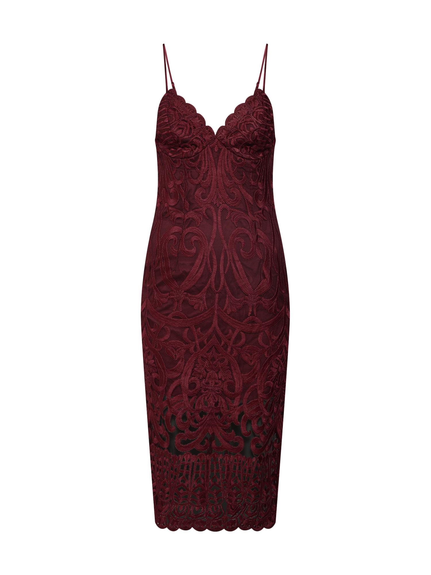 Koktejlové šaty GIA červená Bardot