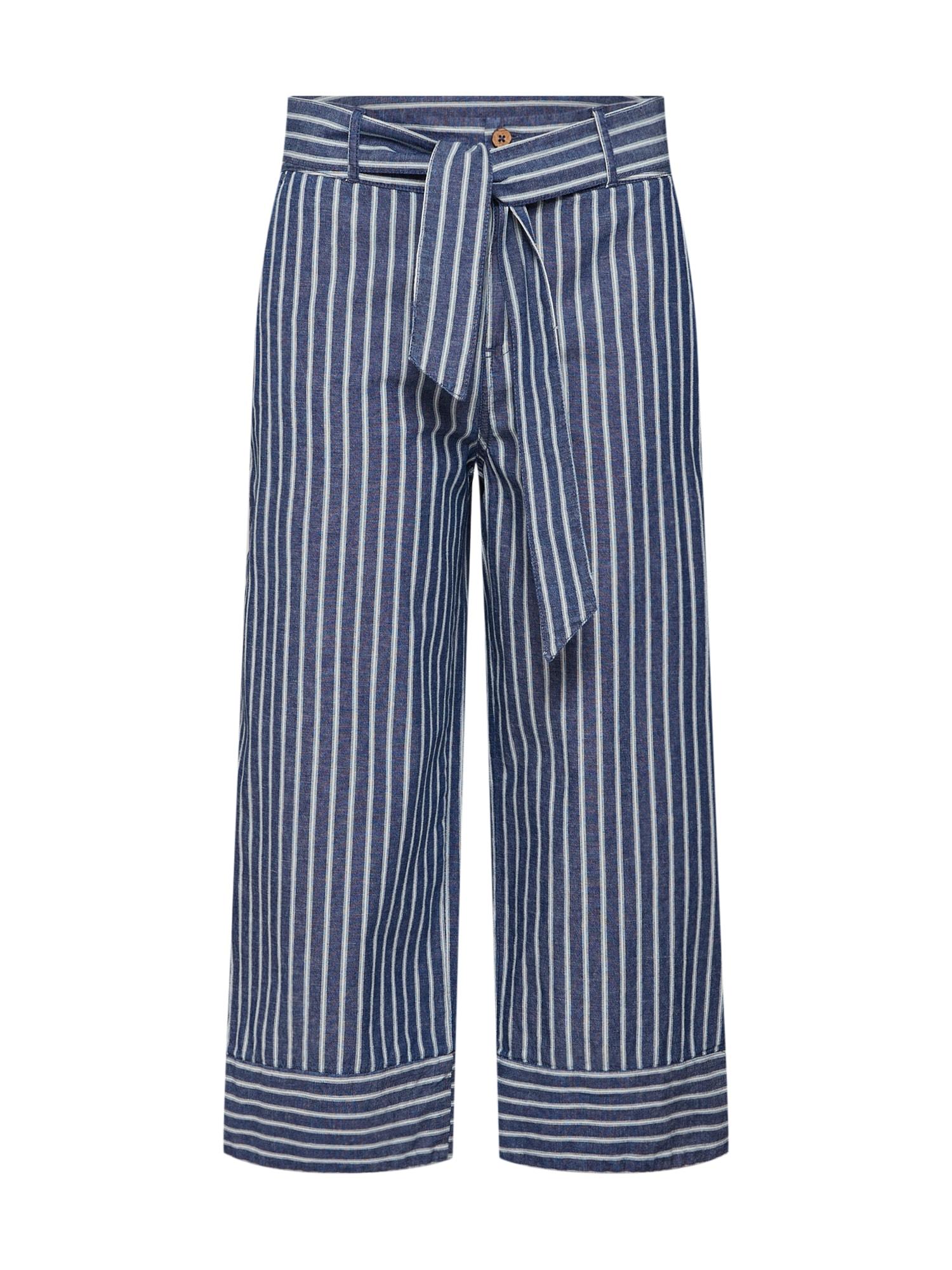 Kalhoty tmavě modrá bílá EDC BY ESPRIT