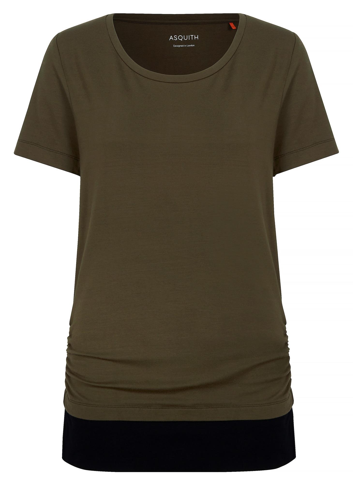 Yoga-t-shirt 'bend It' | Sportbekleidung > Sportshirts > Yogashirts | Dunkelblau - Khaki | YOGISTAR.COM