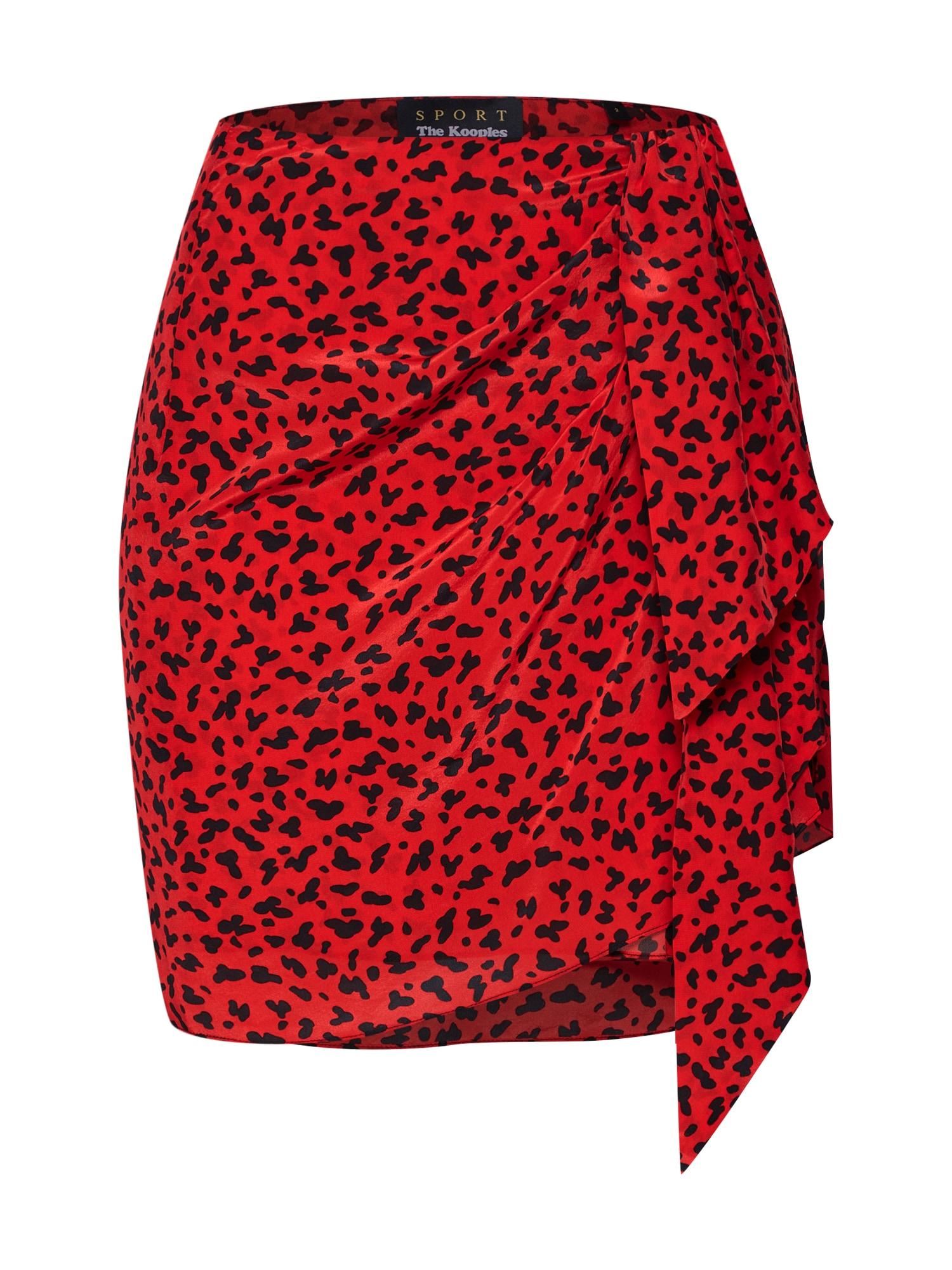 Sukně červená THE KOOPLES SPORT