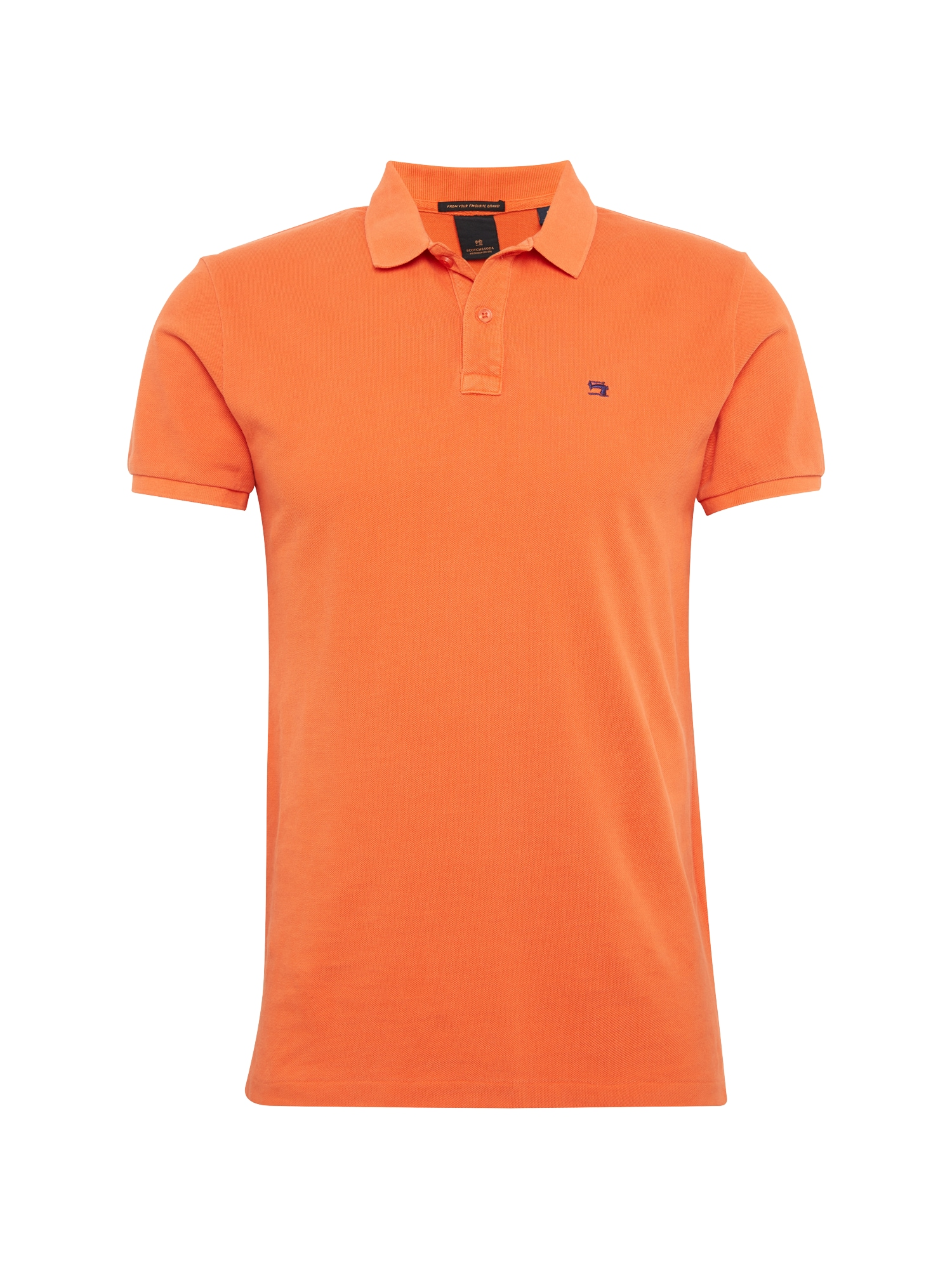 SCOTCH  and  SODA Heren Shirt Classic garment-dyed pique donkeroranje