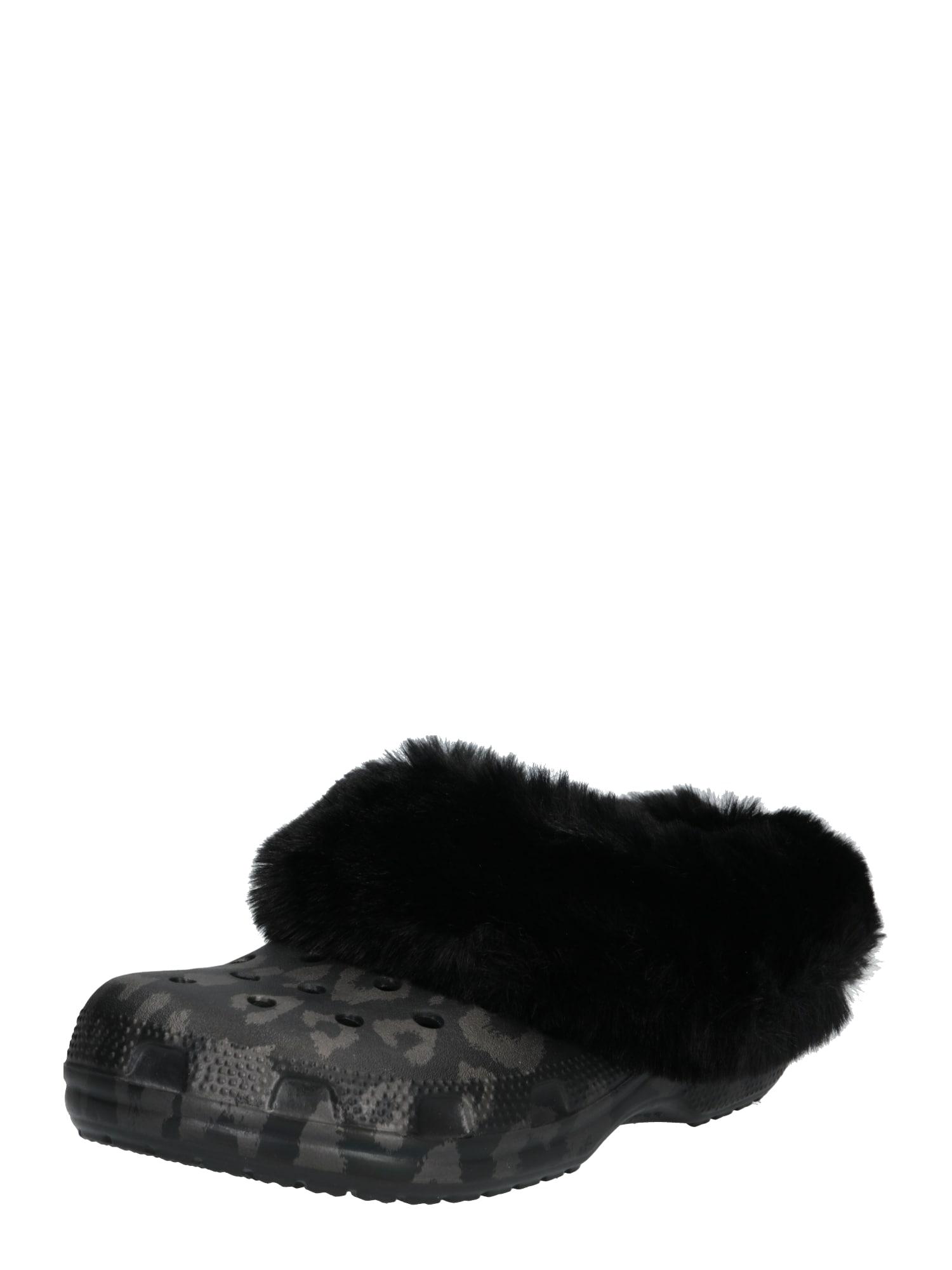 Pantofle Classic Mammoth Luxe Metallic Clog černá Crocs
