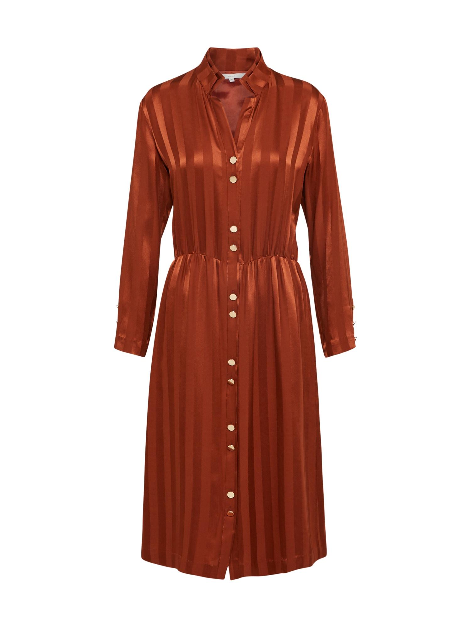 Košilové šaty rezavě červená POSTYR