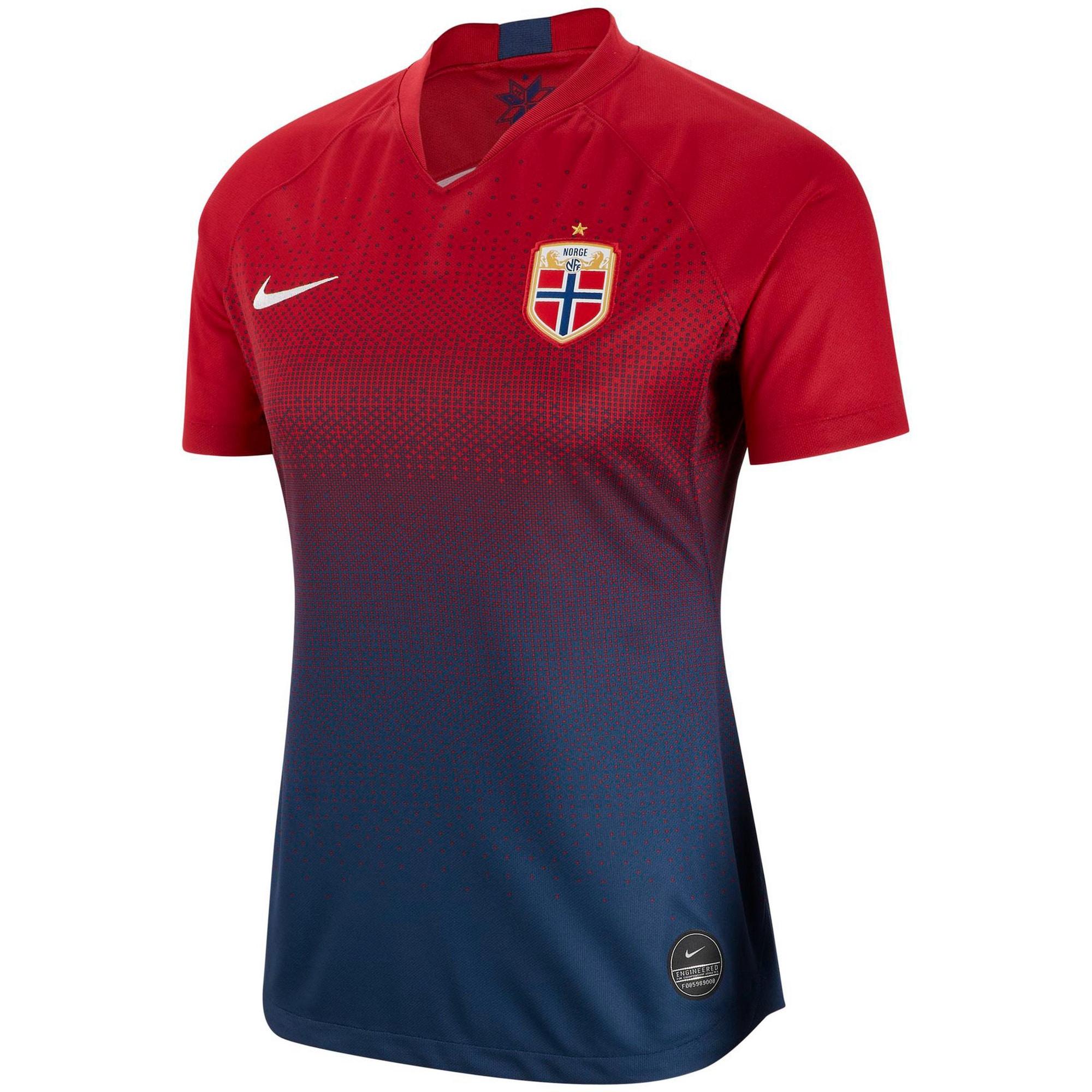 Fußballtrikot 'Norwegen 2019 Heim' | Sportbekleidung > Trikots > Fußballtrikots | Dunkelblau - Rot | Nike