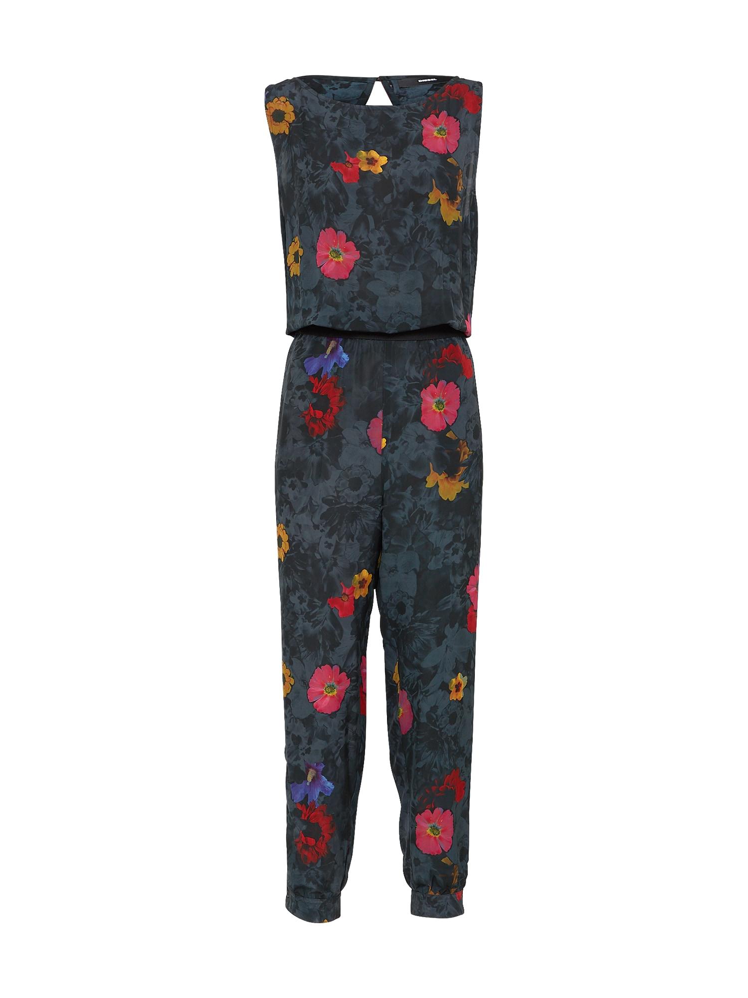 DIESEL Dames Jumpsuit MERYLIN antraciet gemengde kleuren