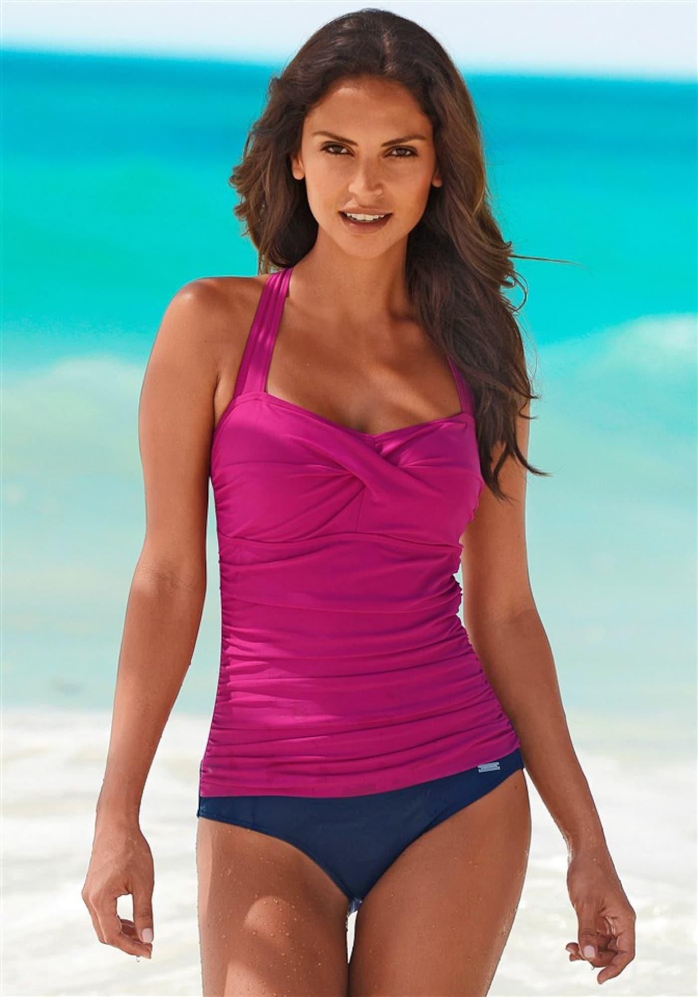 Stahovací plavky svítivě růžová LASCANA