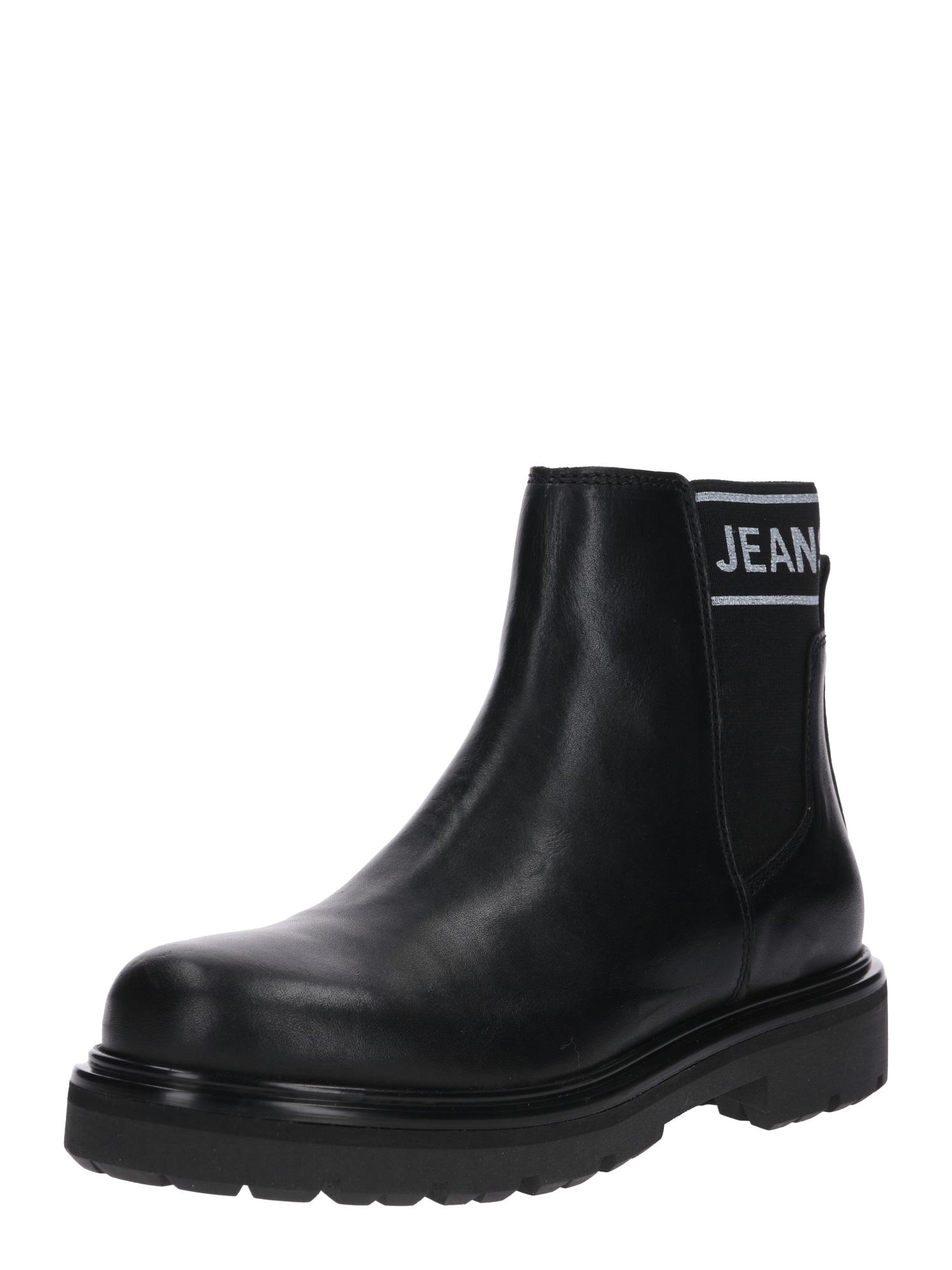 Kozačky TOMMY JEANS ELASTIC CHELSEA BOOT černá Tommy Jeans