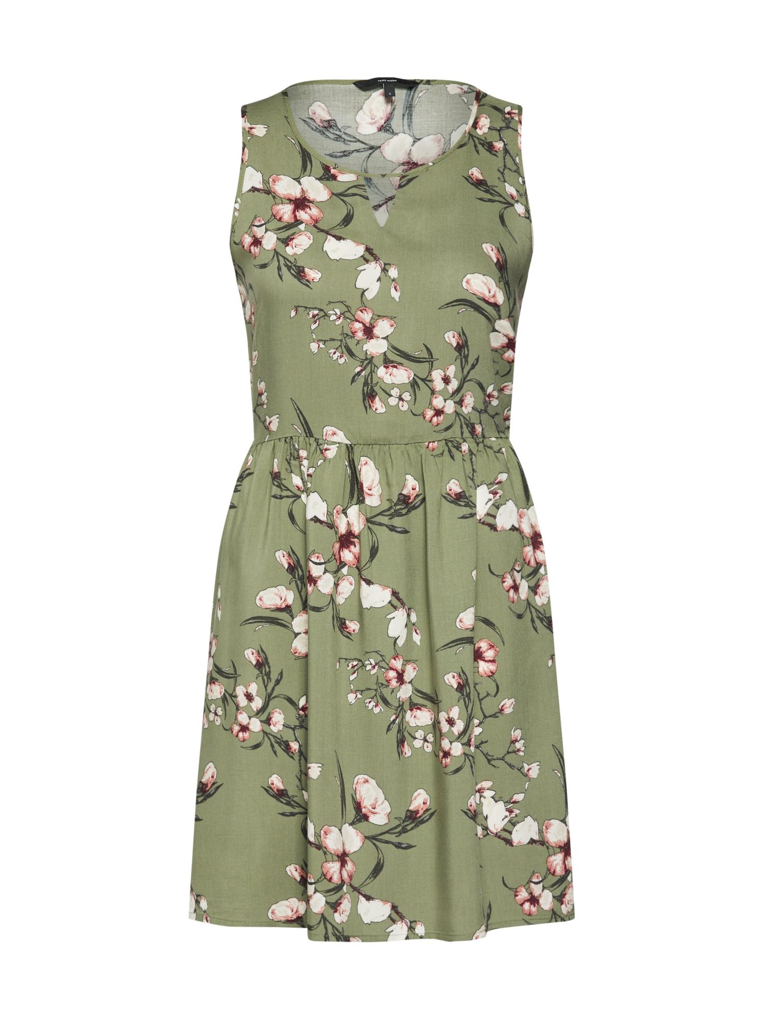 Letní šaty zelená růžová VERO MODA
