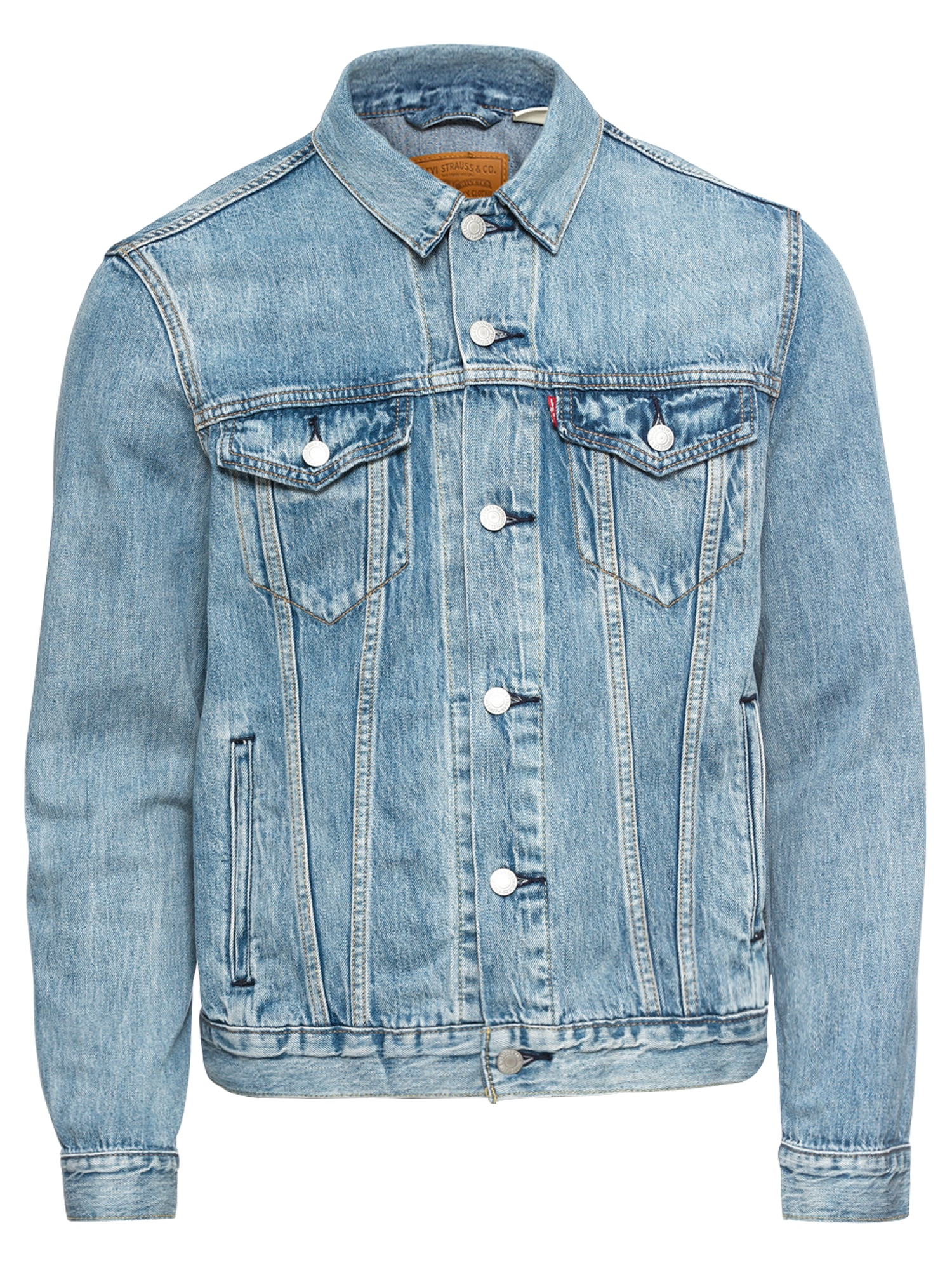 LEVI'S, Heren Tussenjas 'THE TRUCKER', blauw denim