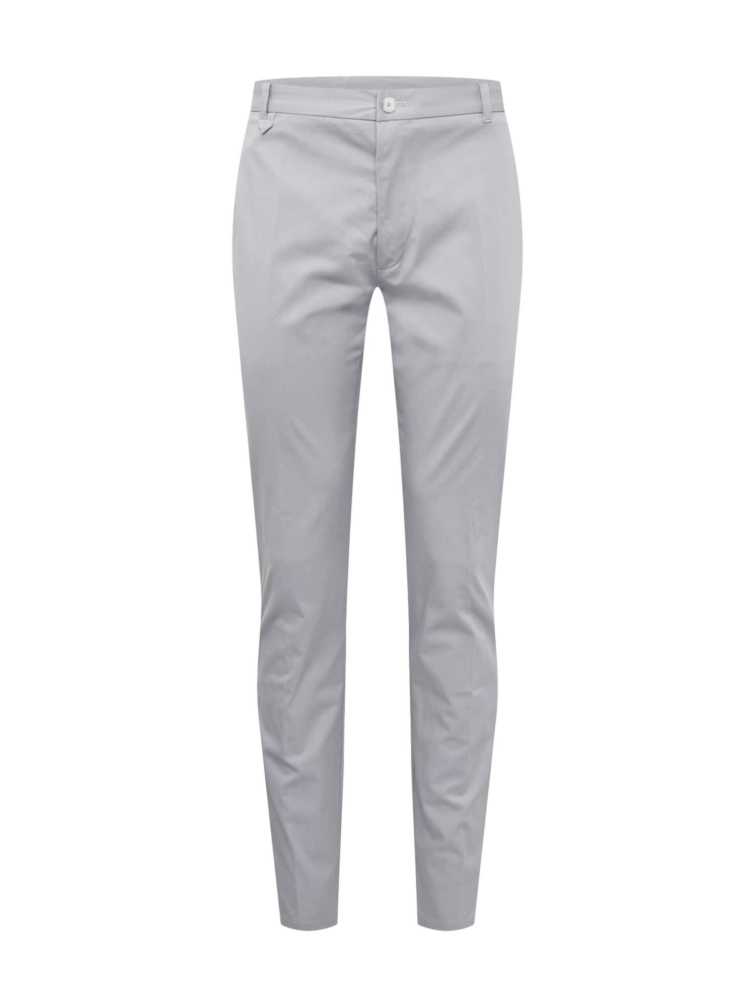 Kalhoty s puky Heldor šedá HUGO