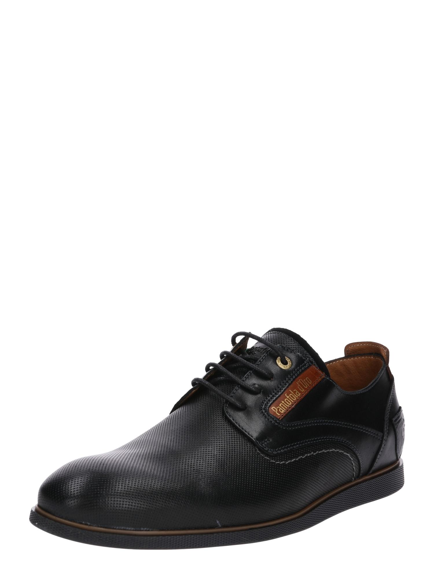 PANTOFOLA DORO Šněrovací boty Urbino černá PANTOFOLA D'ORO