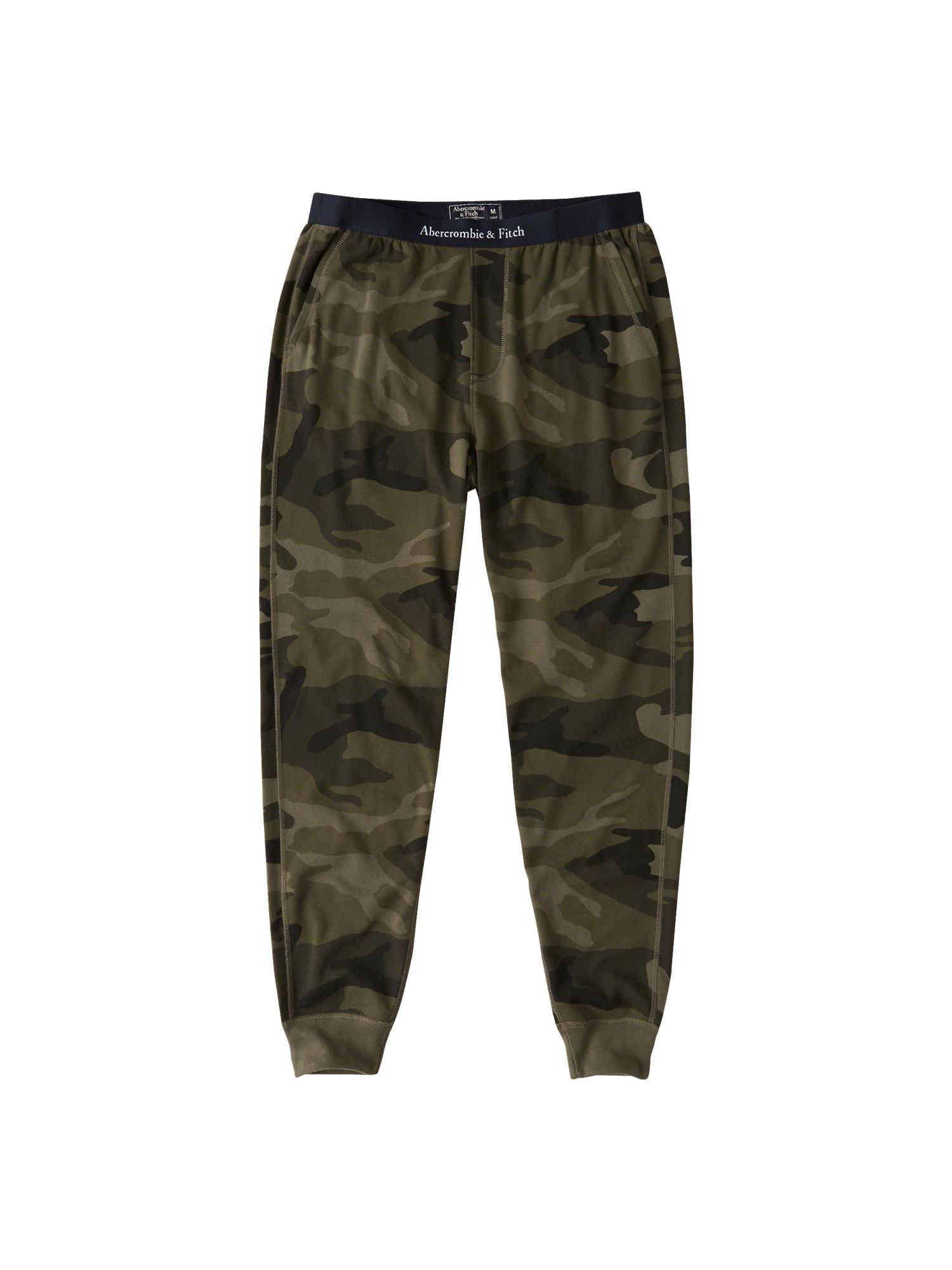 Pyžamové kalhoty khaki Abercrombie & Fitch