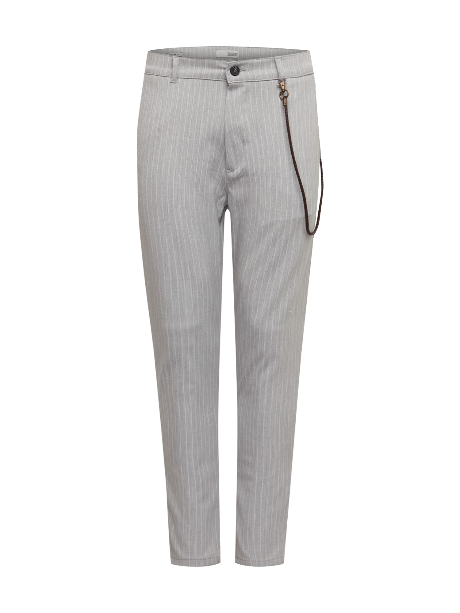 !Solid Kalhoty 'Jim CR'  světle šedá / bílá