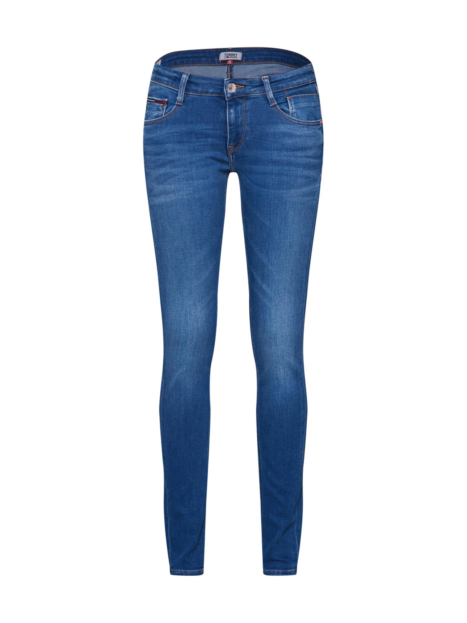 Džíny LOW RISE SKINNY SCARLETT NYFRS modrá džínovina Tommy Jeans
