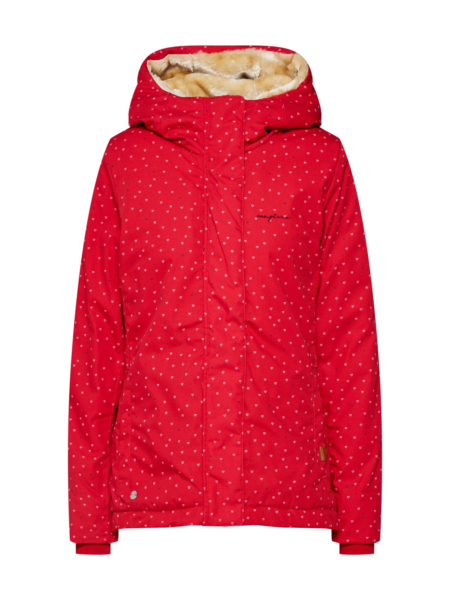 Zimní bunda červená Mazine