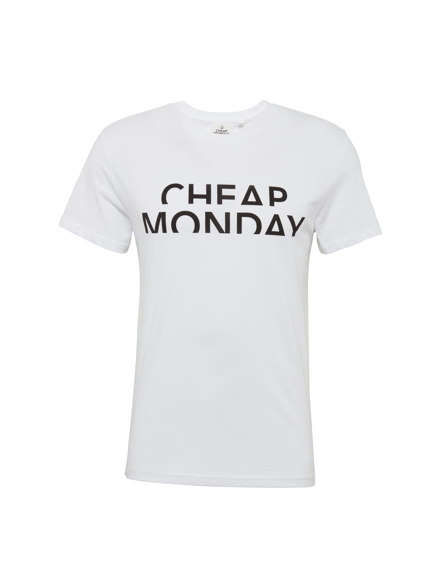 CHEAP MONDAY Heren Shirt Standard tee Spliced cheap zwart wit